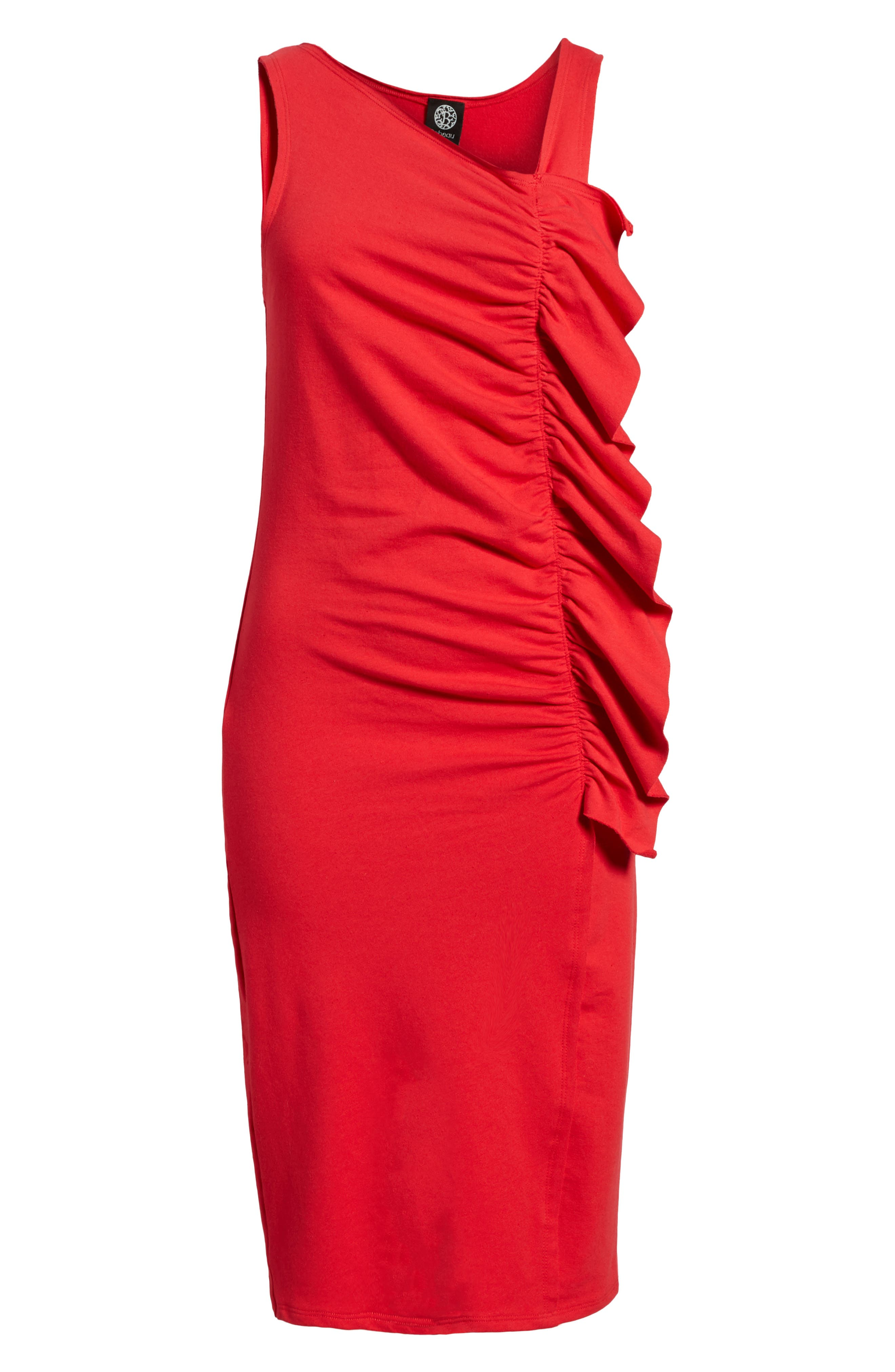French Terry Ruffle Front Dress,                             Alternate thumbnail 18, color,