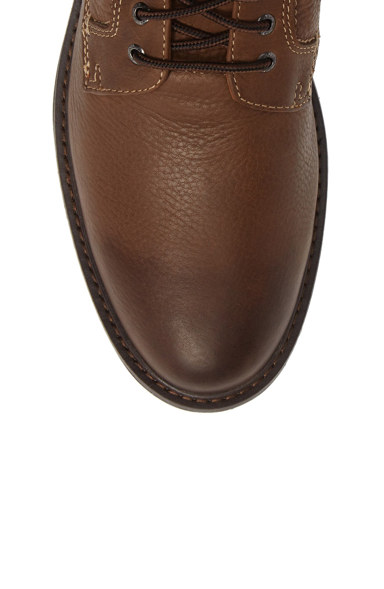 Rutledge Genuine Shearling Lined Waterproof Boot,                             Alternate thumbnail 5, color,                             BROWN OILED LEATHER