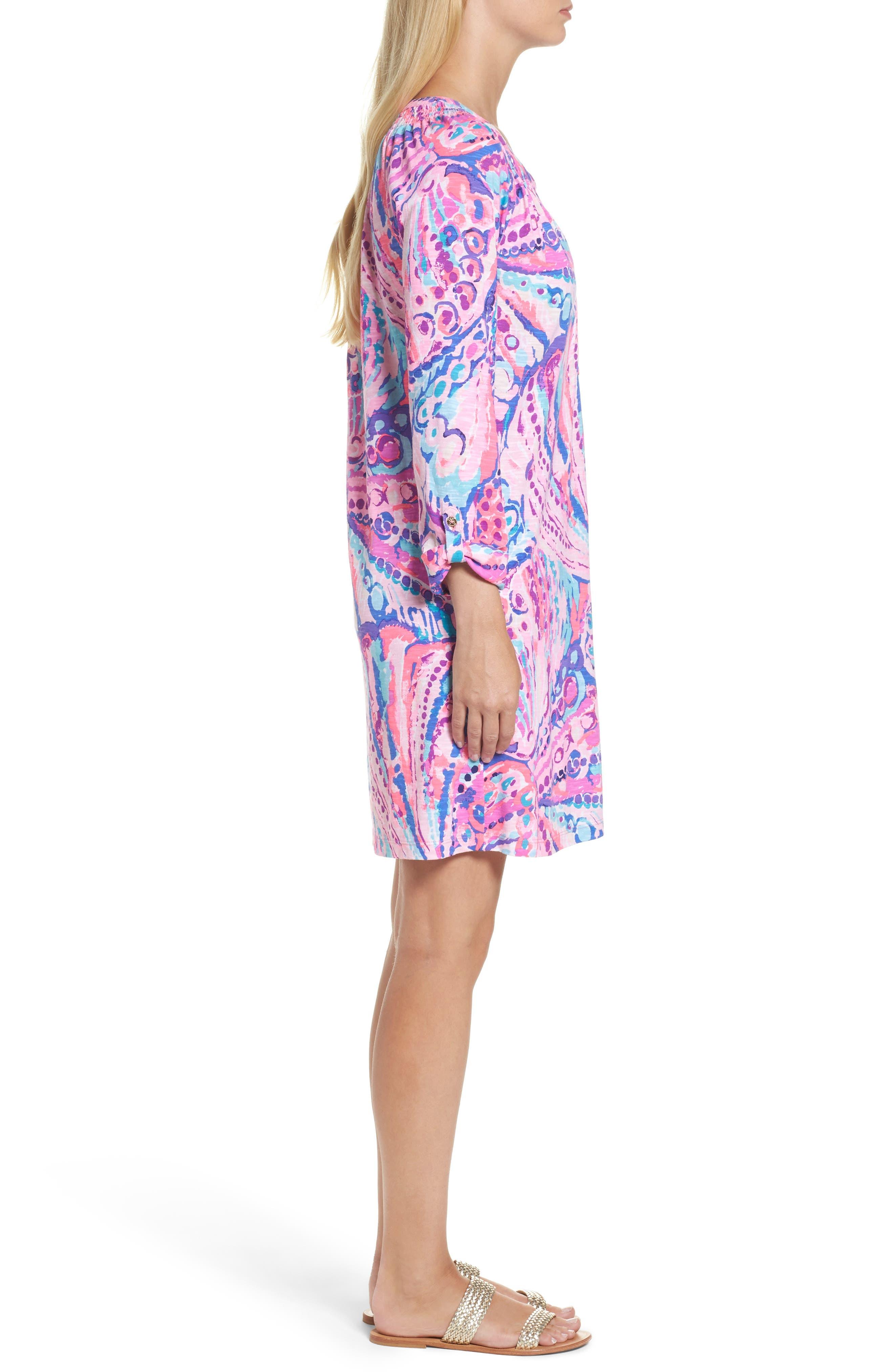 Essie Roll Sleeve Shift Dress,                             Alternate thumbnail 3, color,                             550