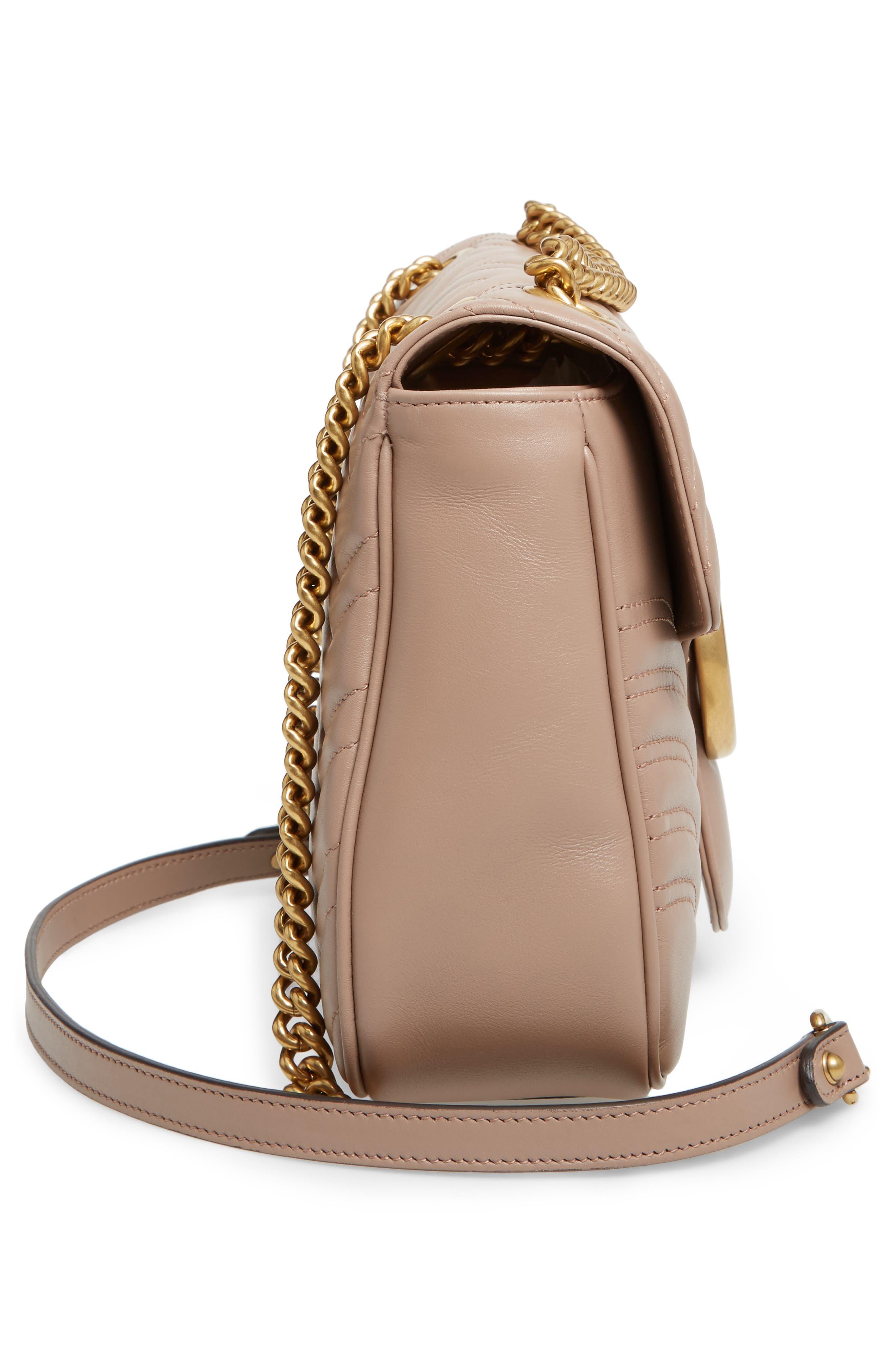 Medium GG Marmont 2.0 Matelassé Leather Shoulder Bag,                             Alternate thumbnail 5, color,                             PORCELAIN ROSE