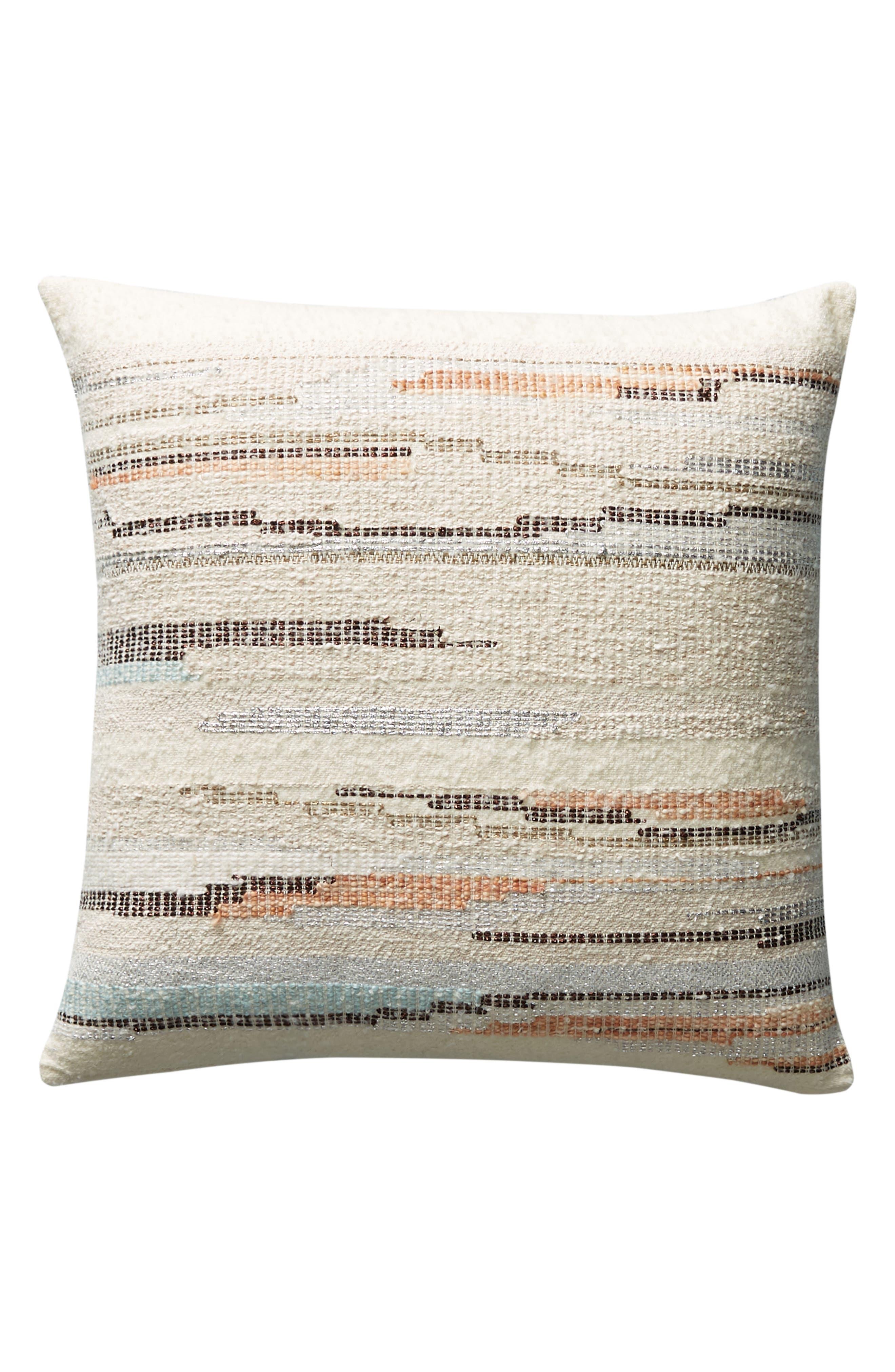 Jess Feury Sunstreak Accent Pillow,                             Alternate thumbnail 4, color,                             100