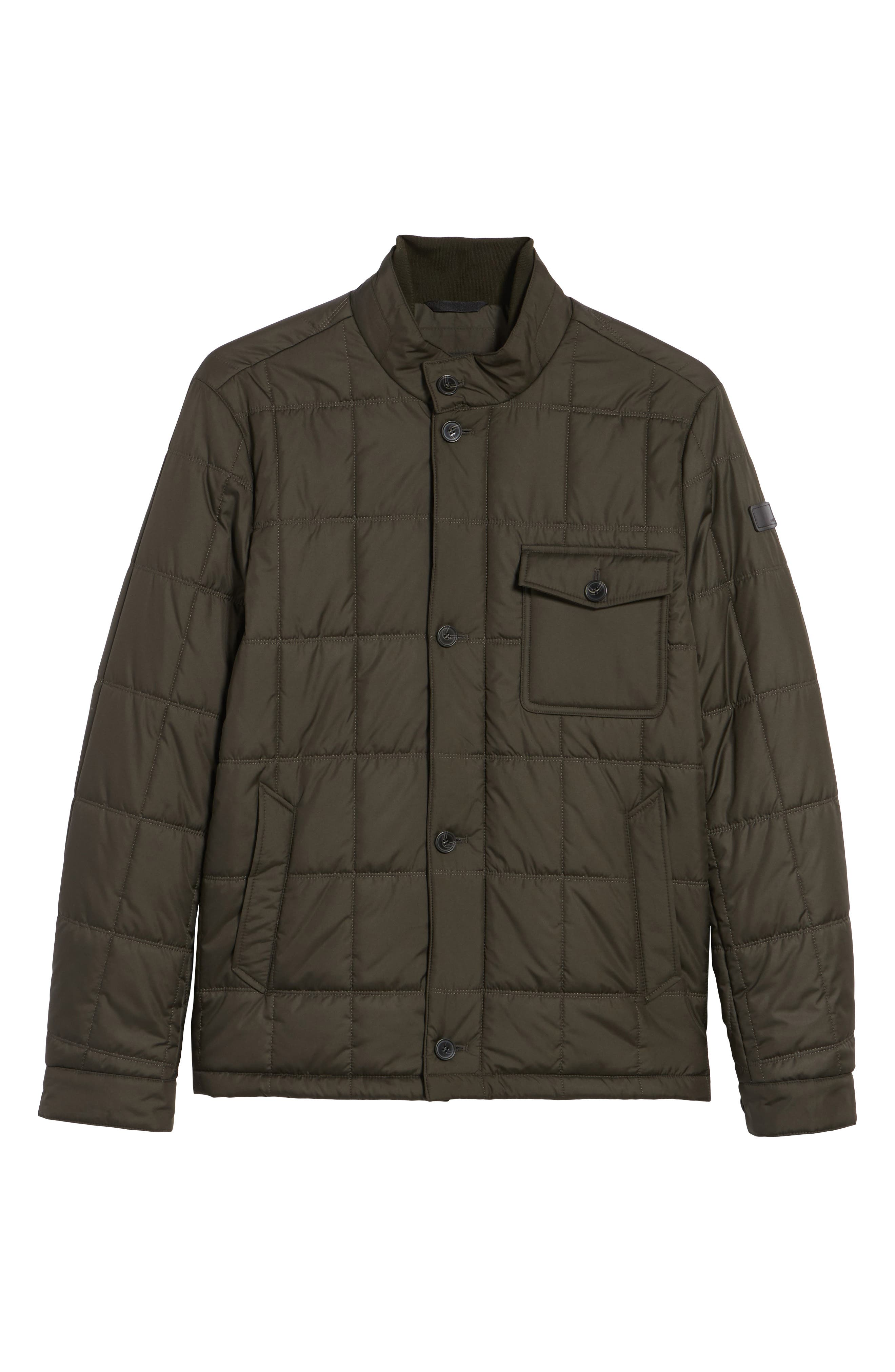 Regular Fit Quilted Jacket,                             Alternate thumbnail 4, color,
