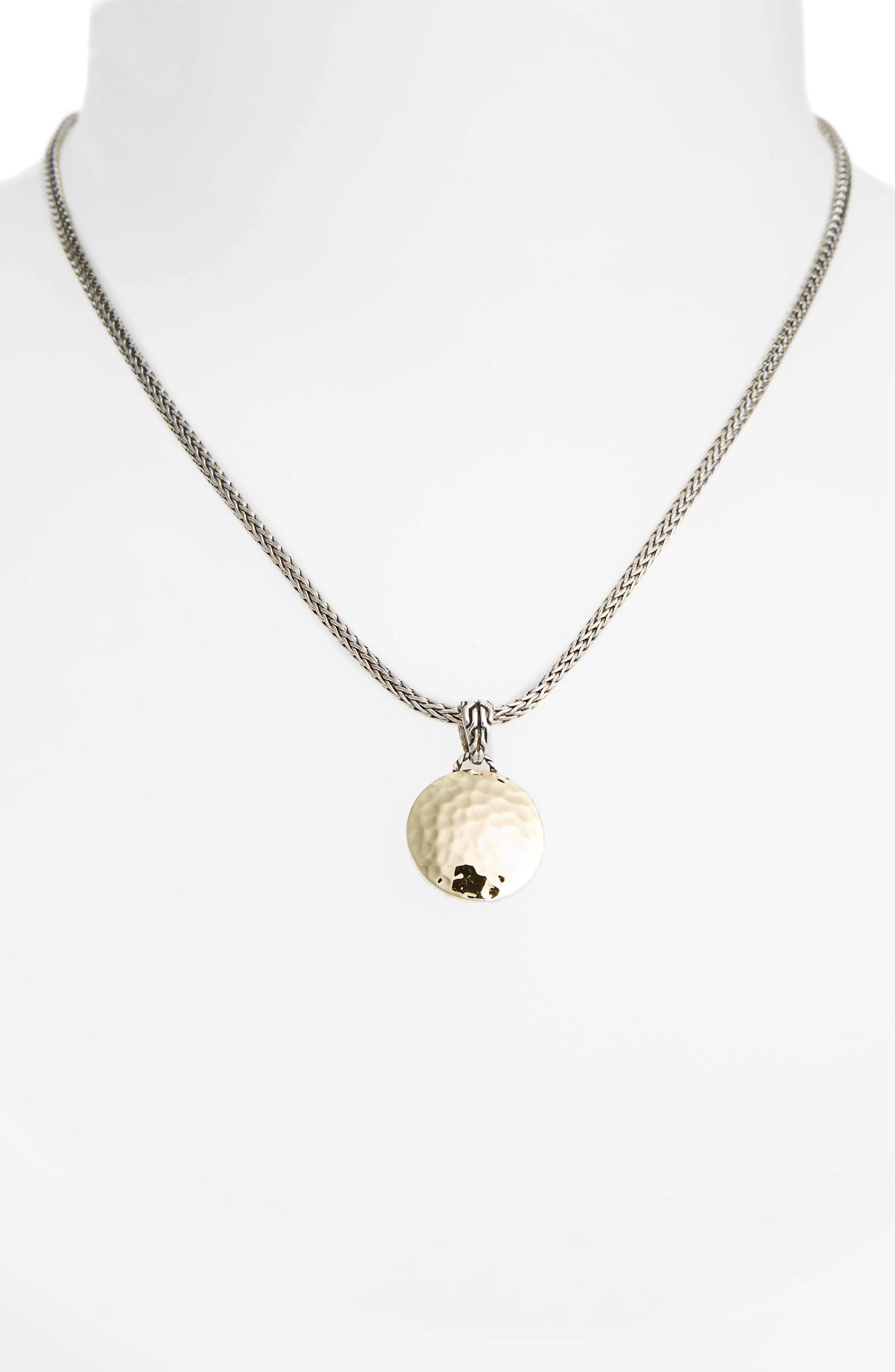 'Palu' Round Pendant Necklace,                             Alternate thumbnail 3, color,                             SILVER/ GOLD