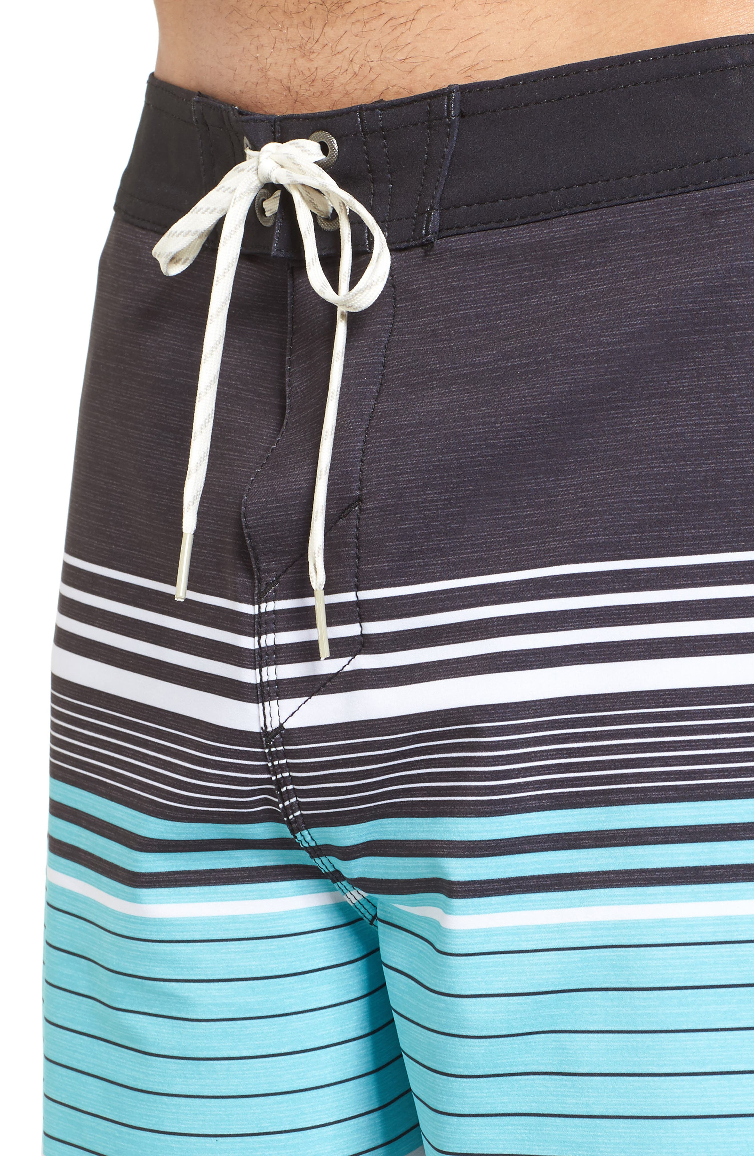 Frontiers Stretch Board Shorts,                             Alternate thumbnail 4, color,                             001