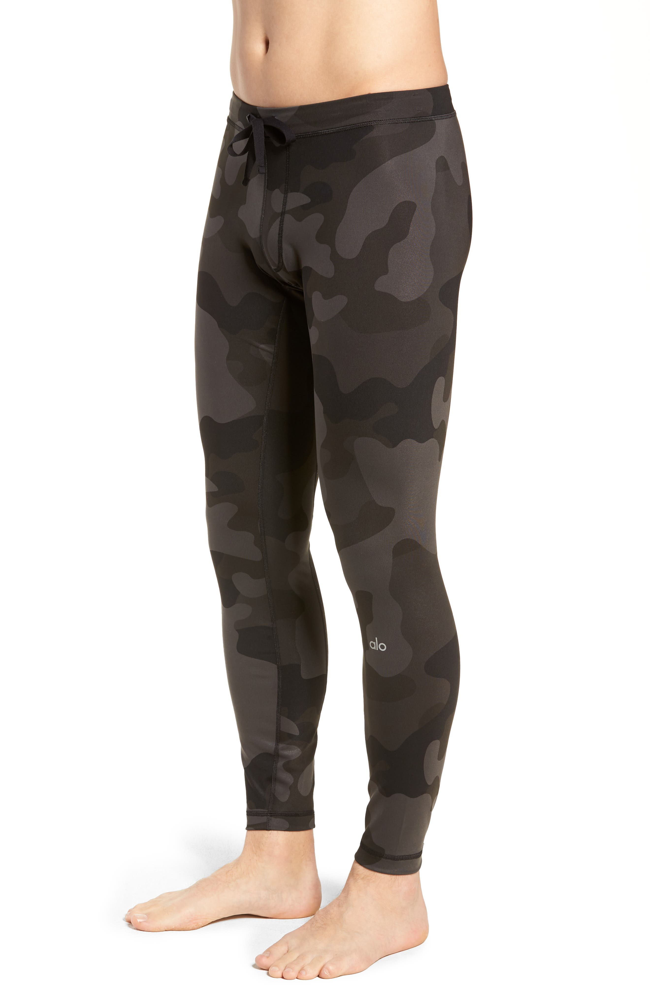 Warror Compression Tights,                             Alternate thumbnail 3, color,                             ONYX CAMO