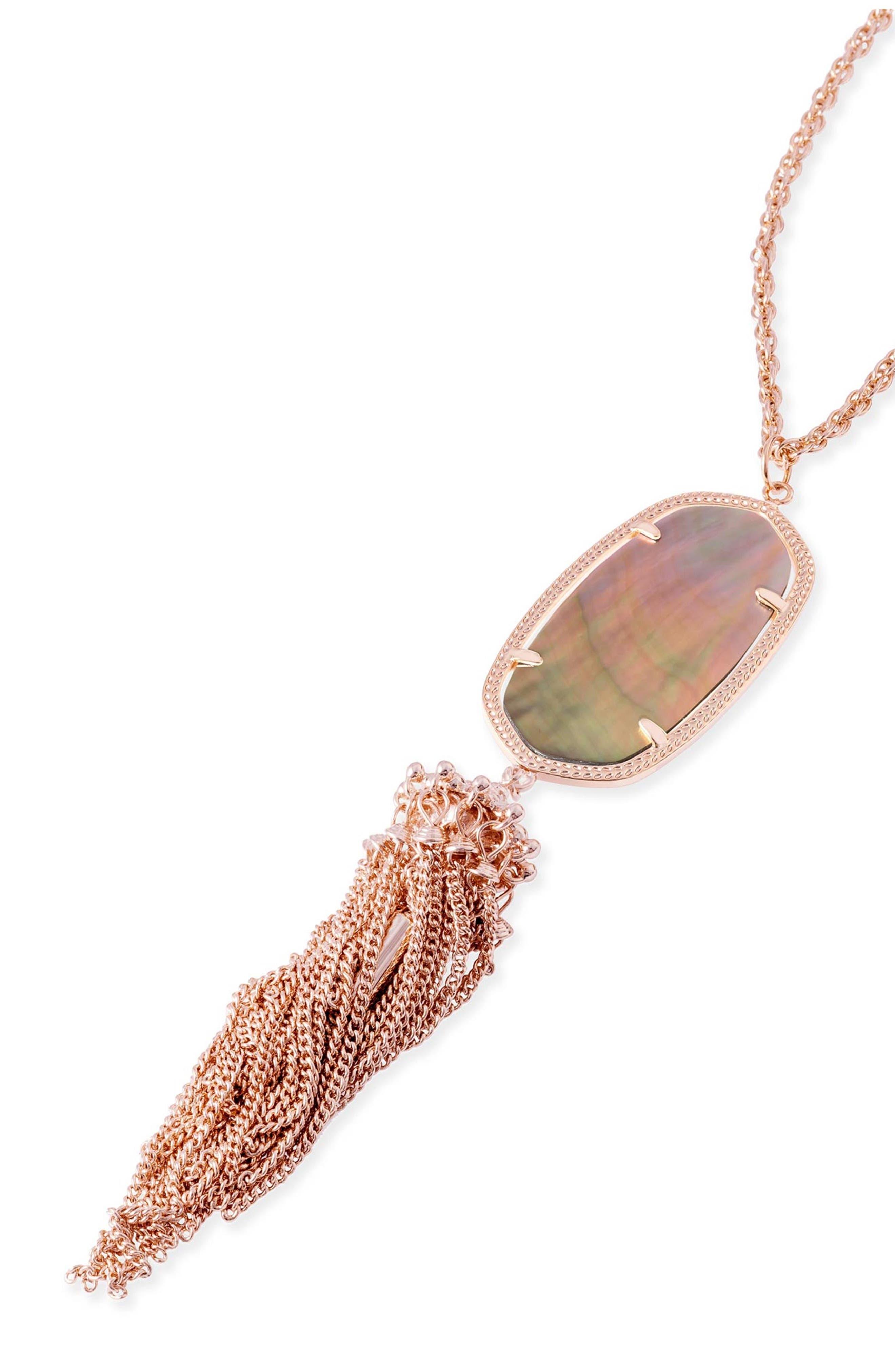 Rayne Stone Tassel Pendant Necklace,                             Alternate thumbnail 163, color,