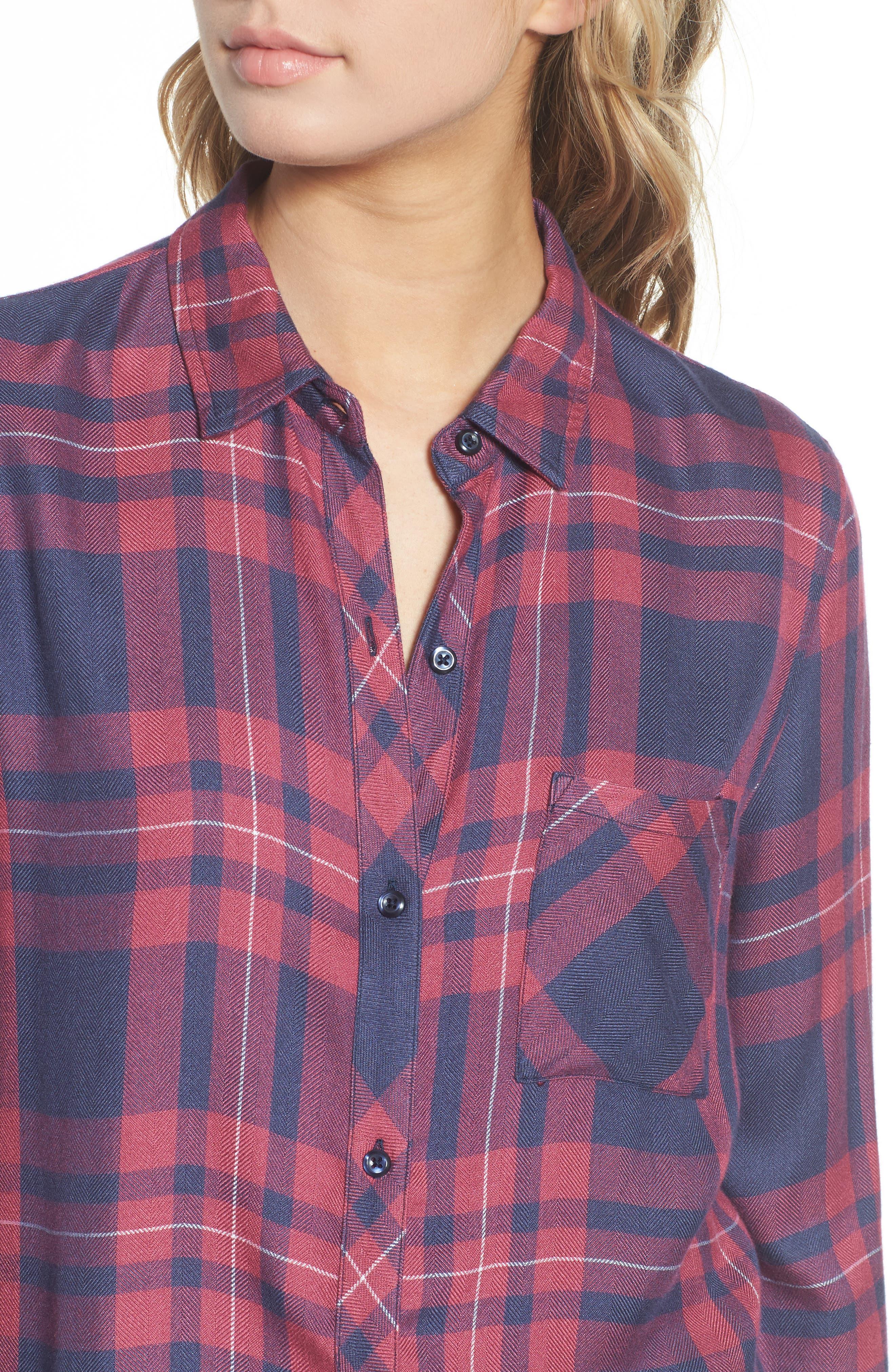 Hunter Plaid Shirt,                             Alternate thumbnail 493, color,