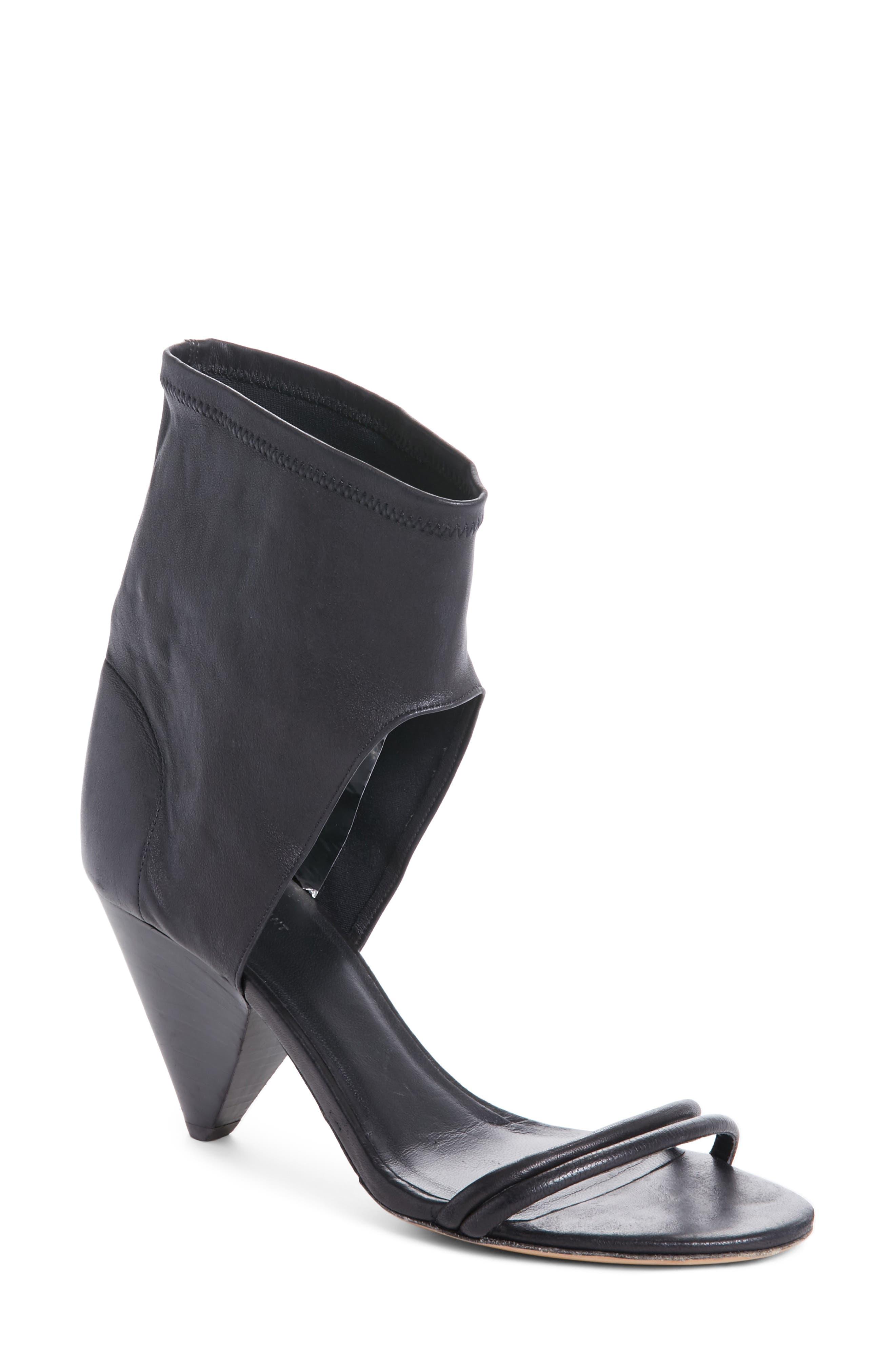 Melvy Ankle Shield Sandal,                         Main,                         color, 001
