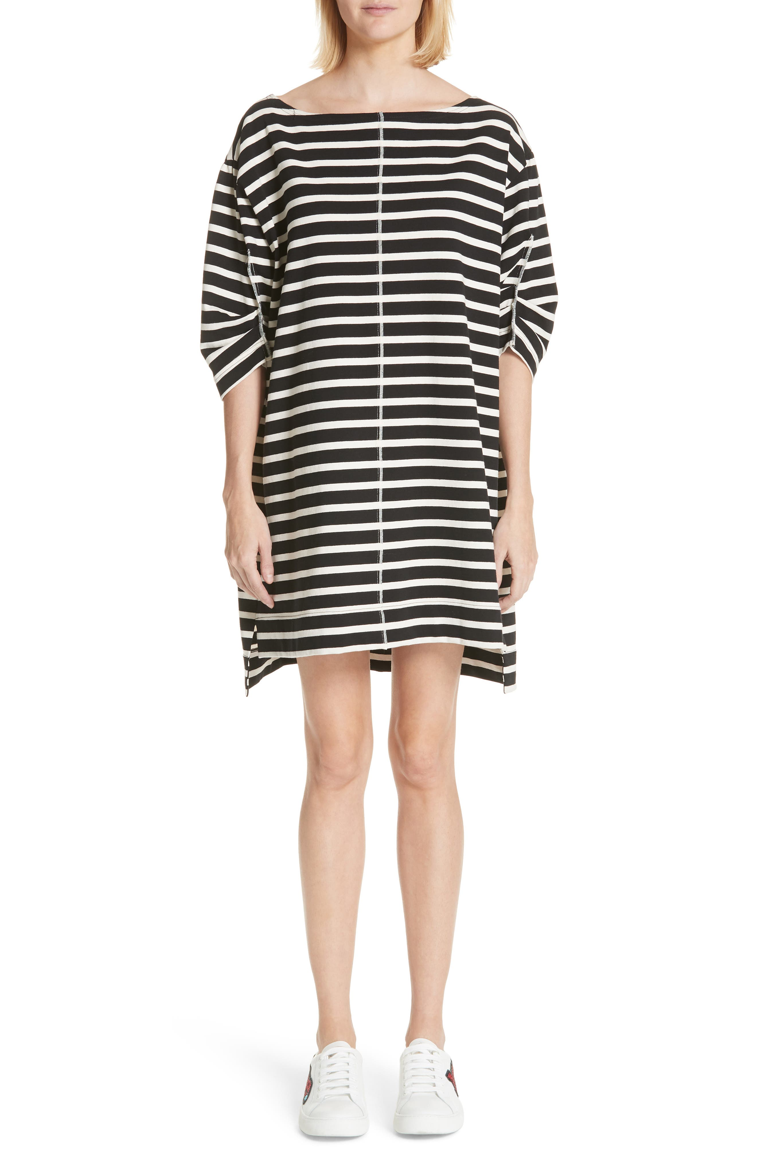 Marc Jacobs Stamped Stripe Dress, Black