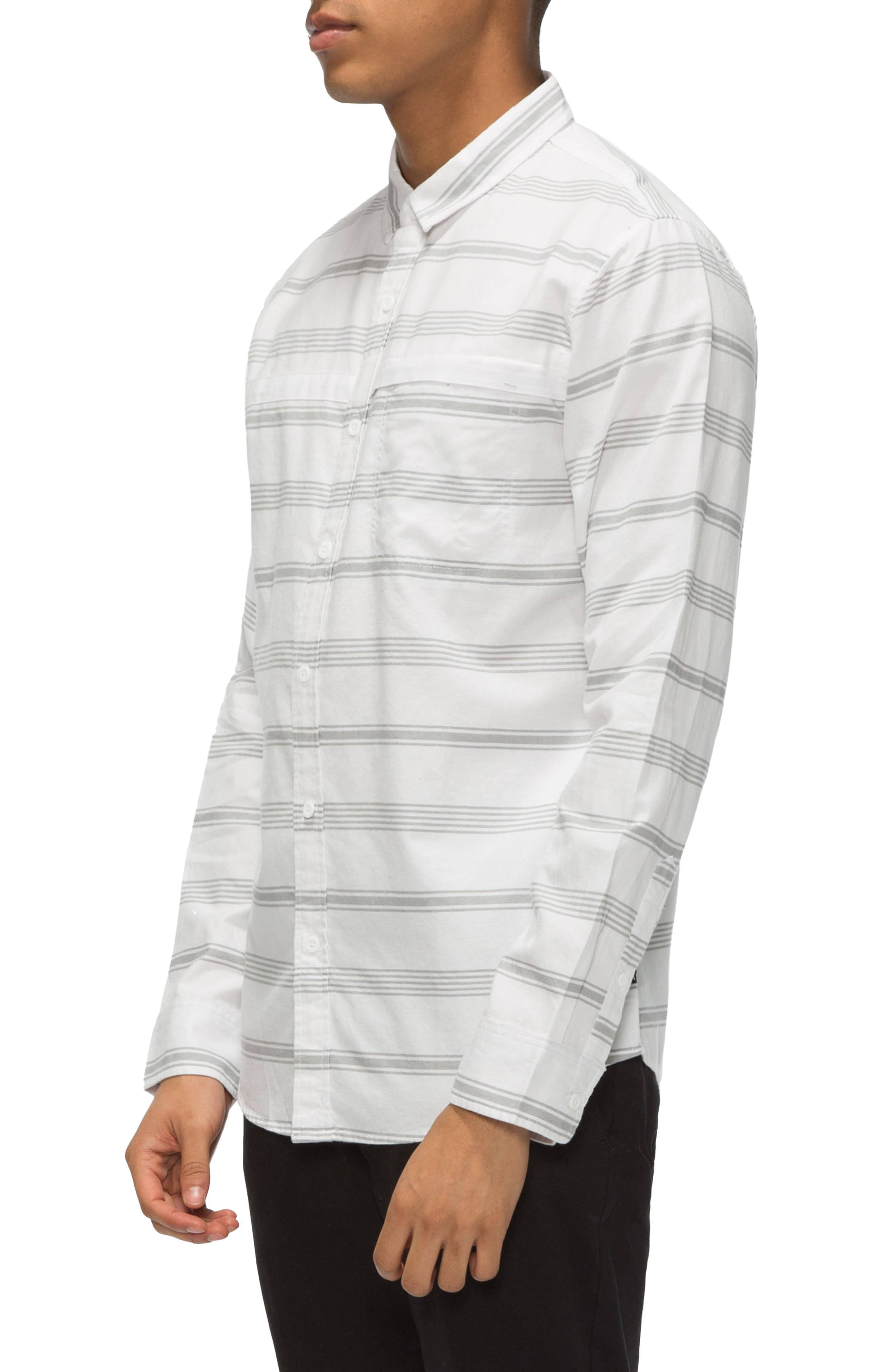 Shin Stripe Sport Shirt,                             Alternate thumbnail 6, color,