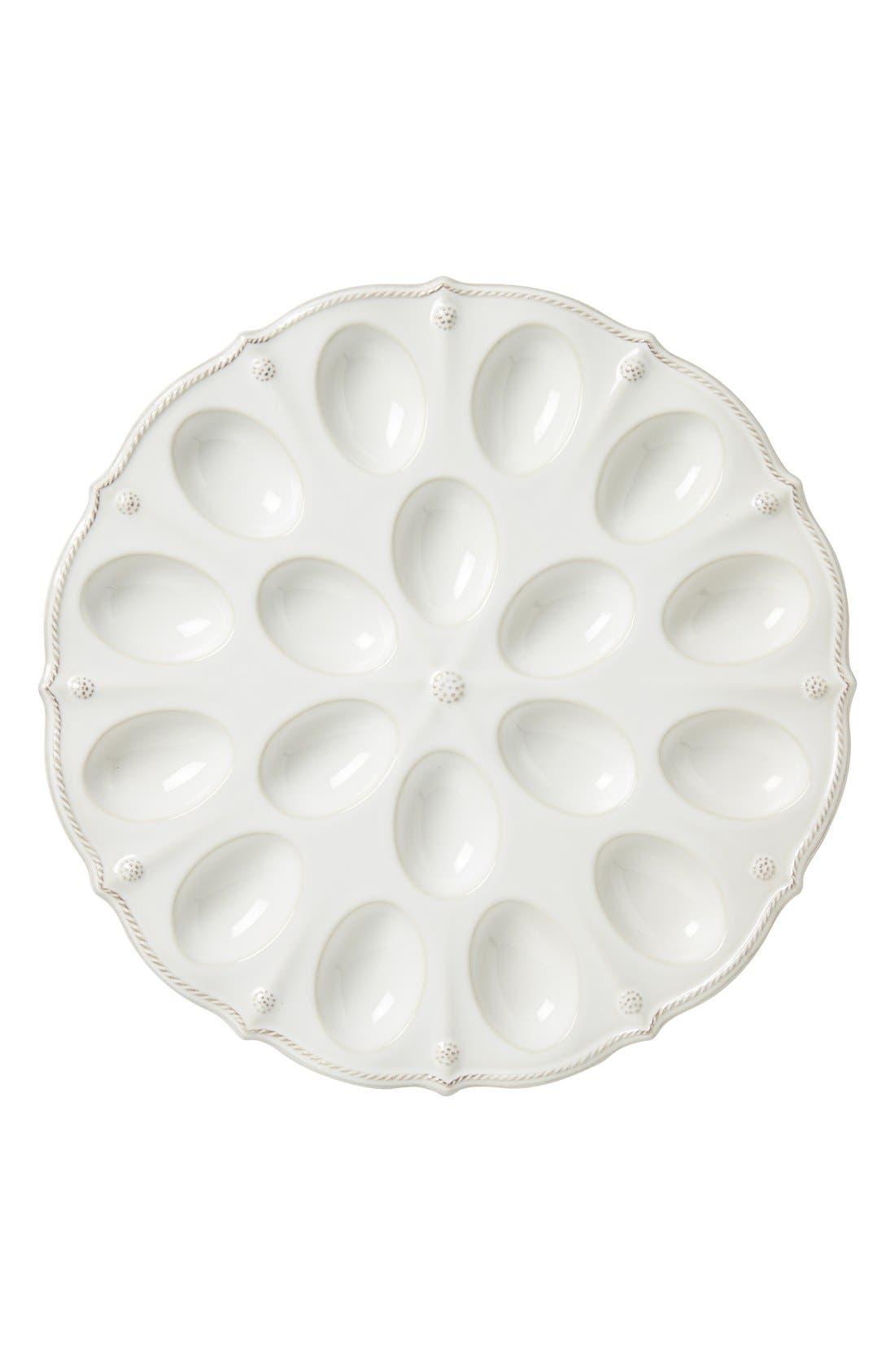 'Berry and Thread' Egg Platter,                             Alternate thumbnail 2, color,                             WHITEWASH