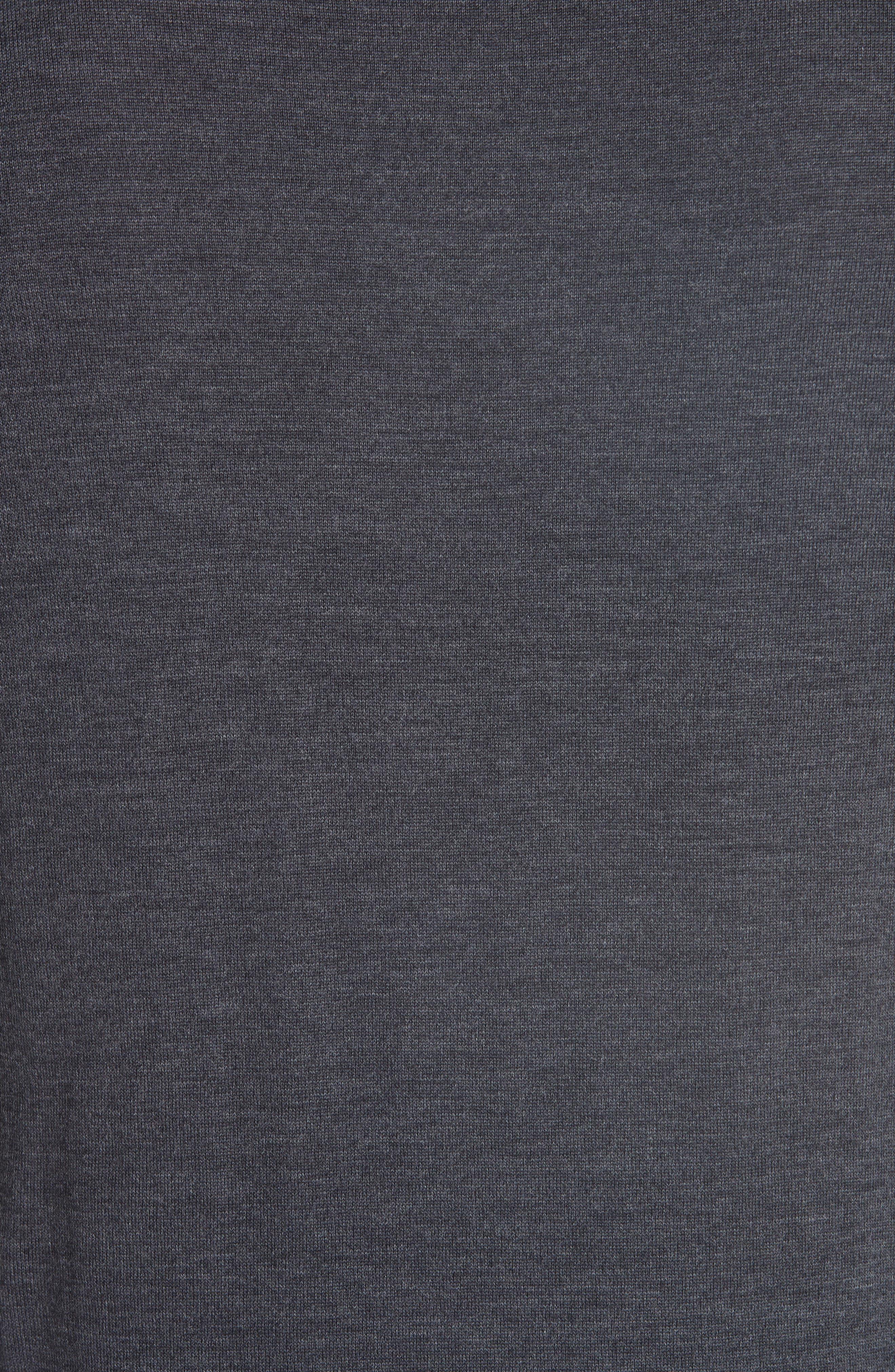 V-Neck Wool Sweater,                             Alternate thumbnail 5, color,                             GREY