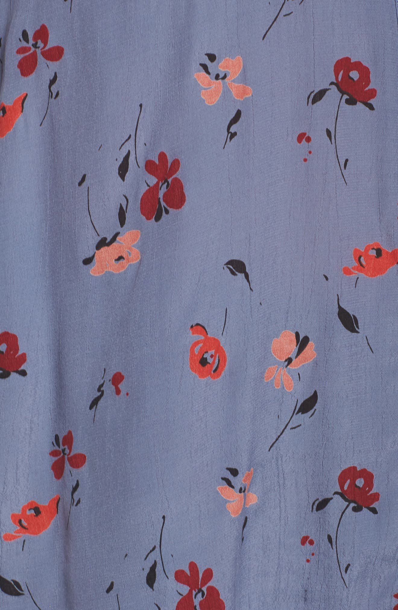 Floral Print Button Down Shirt,                             Alternate thumbnail 5, color,                             020