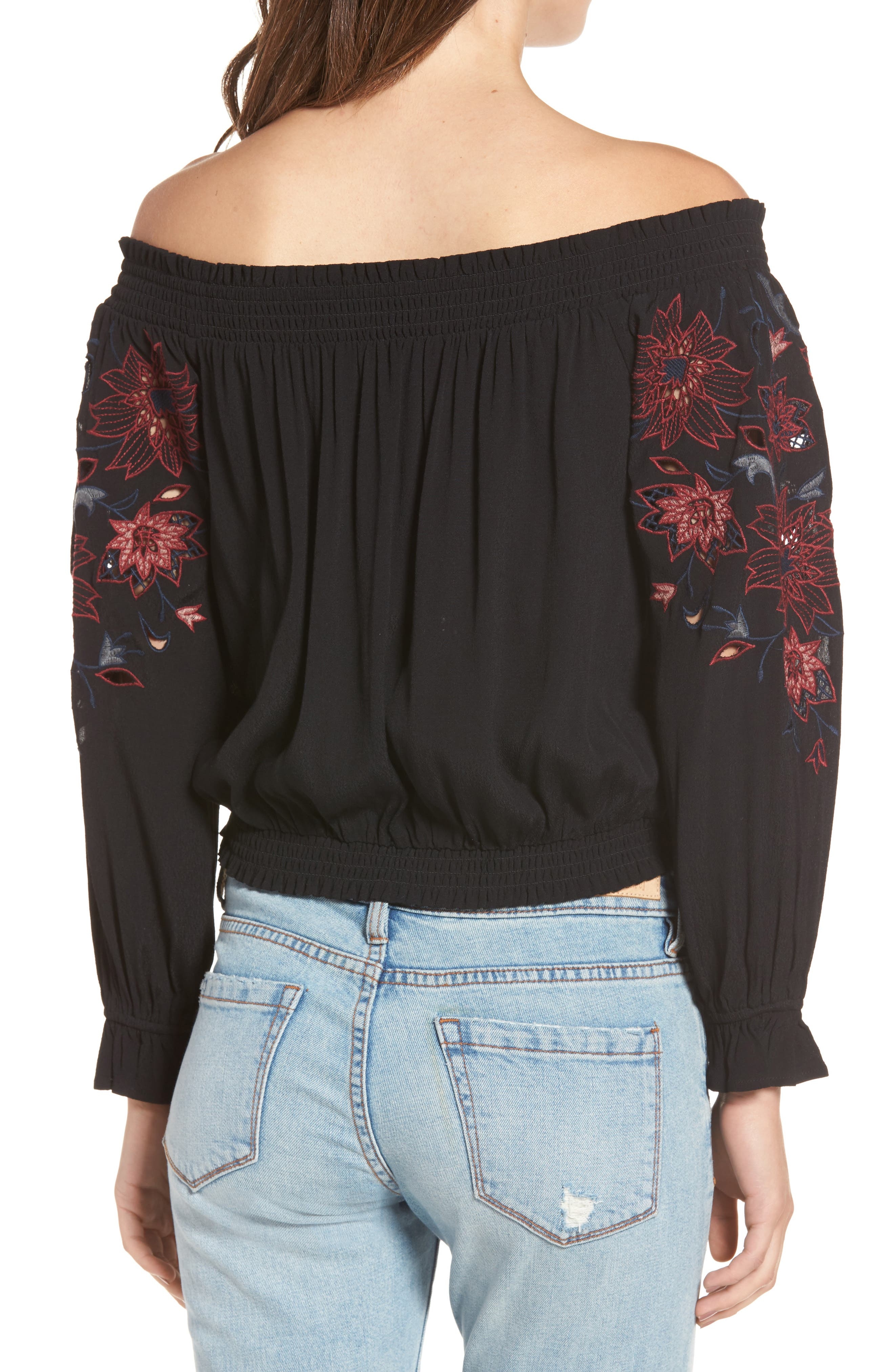 Kelly Off the Shoulder Top,                             Alternate thumbnail 2, color,                             001