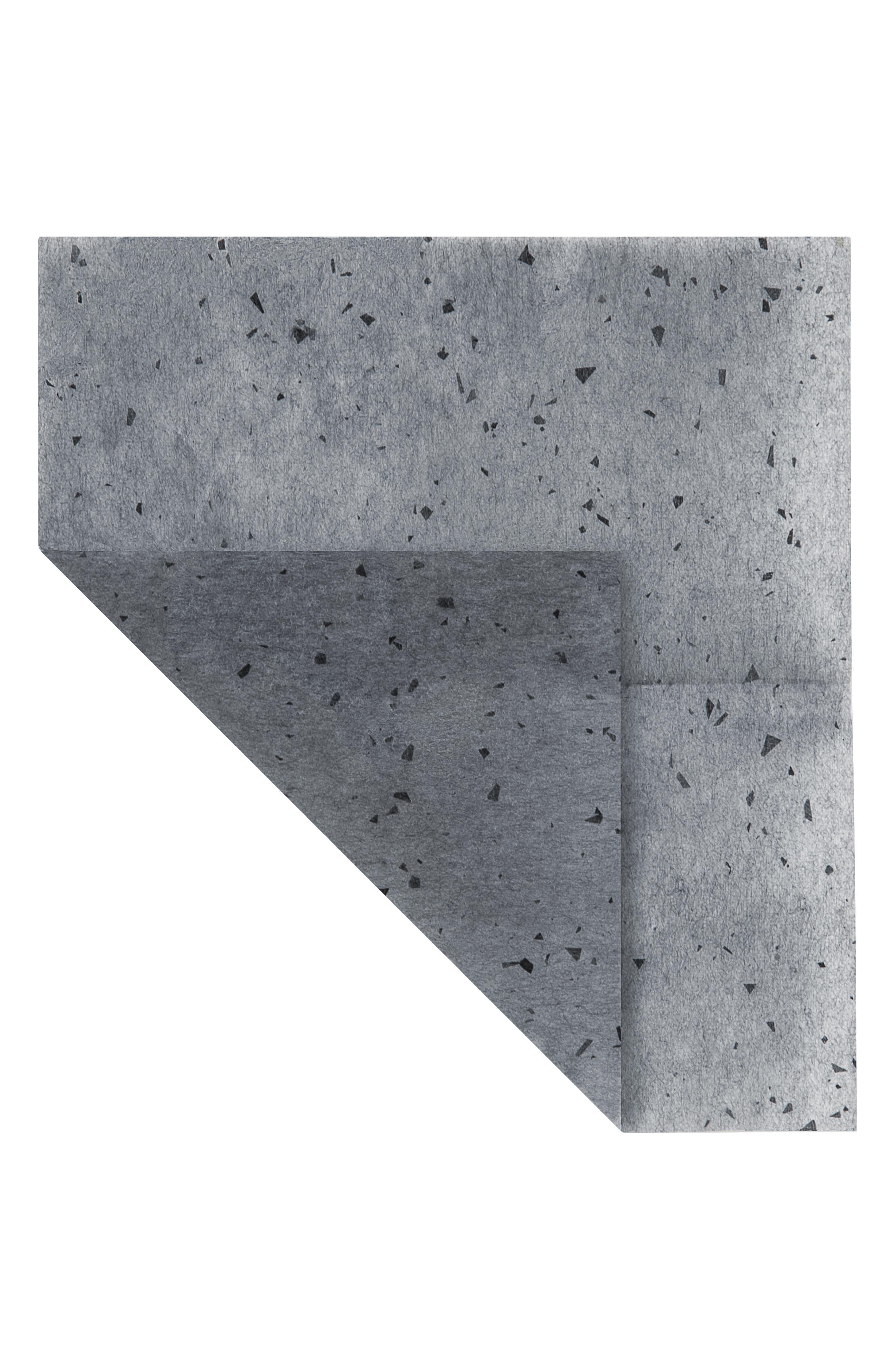 Black Charcoal Blotting Linens,                             Alternate thumbnail 2, color,                             NO COLOR