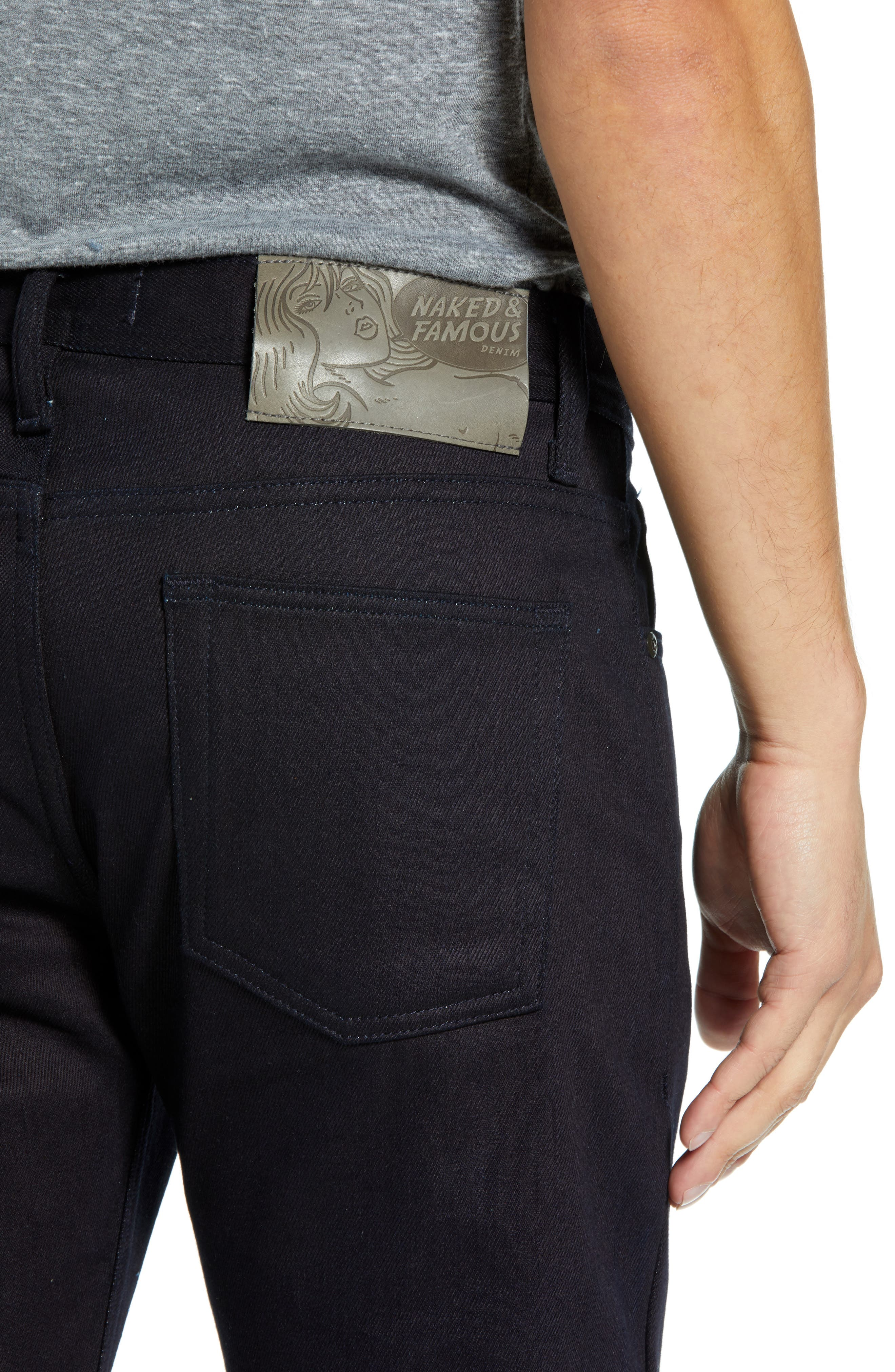 Weird Guy Slim Fit Jeans,                             Alternate thumbnail 4, color,                             THERMO STRETCH DENIM