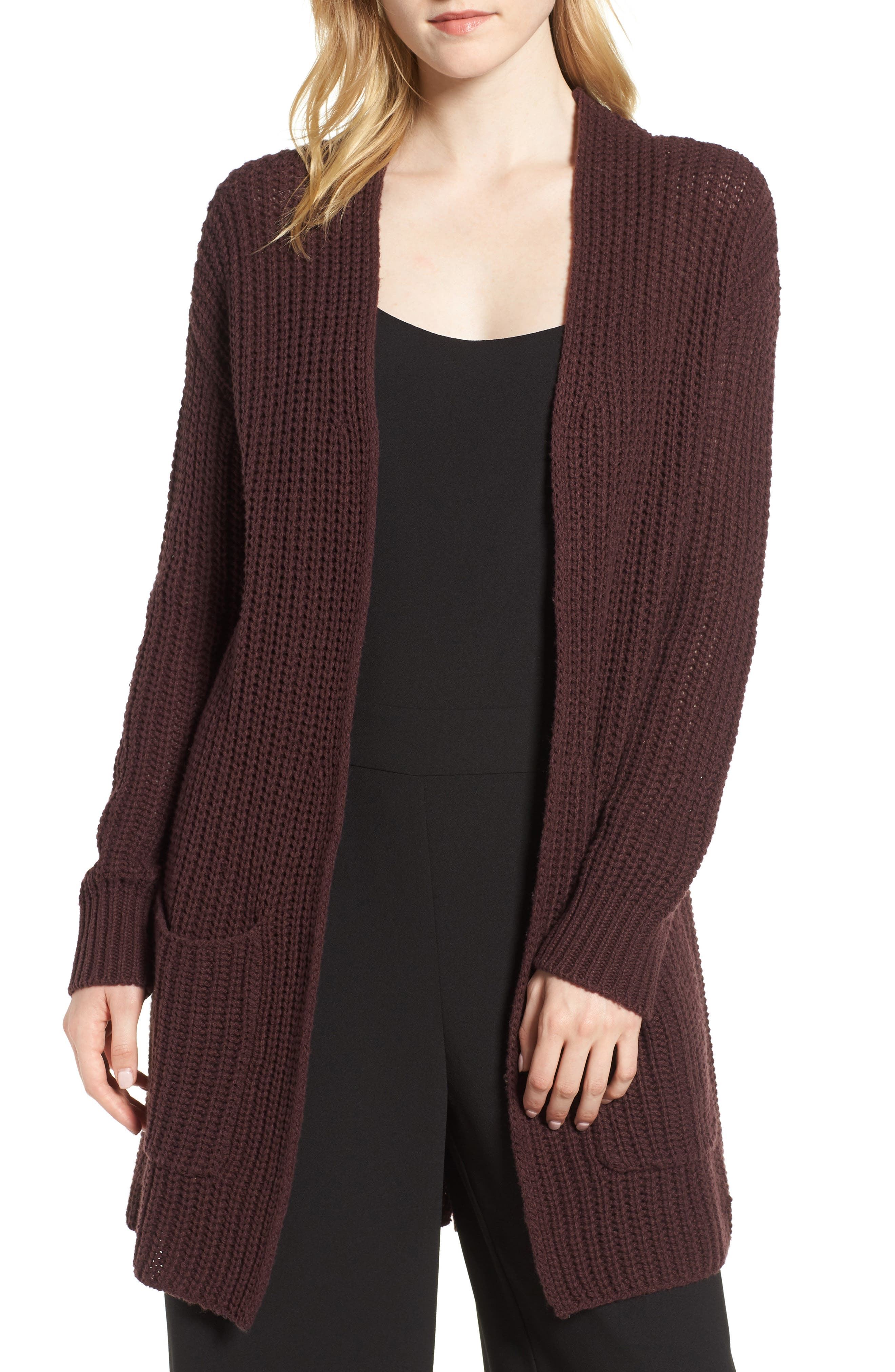 Lace-Up Back Cardigan,                         Main,                         color, 938