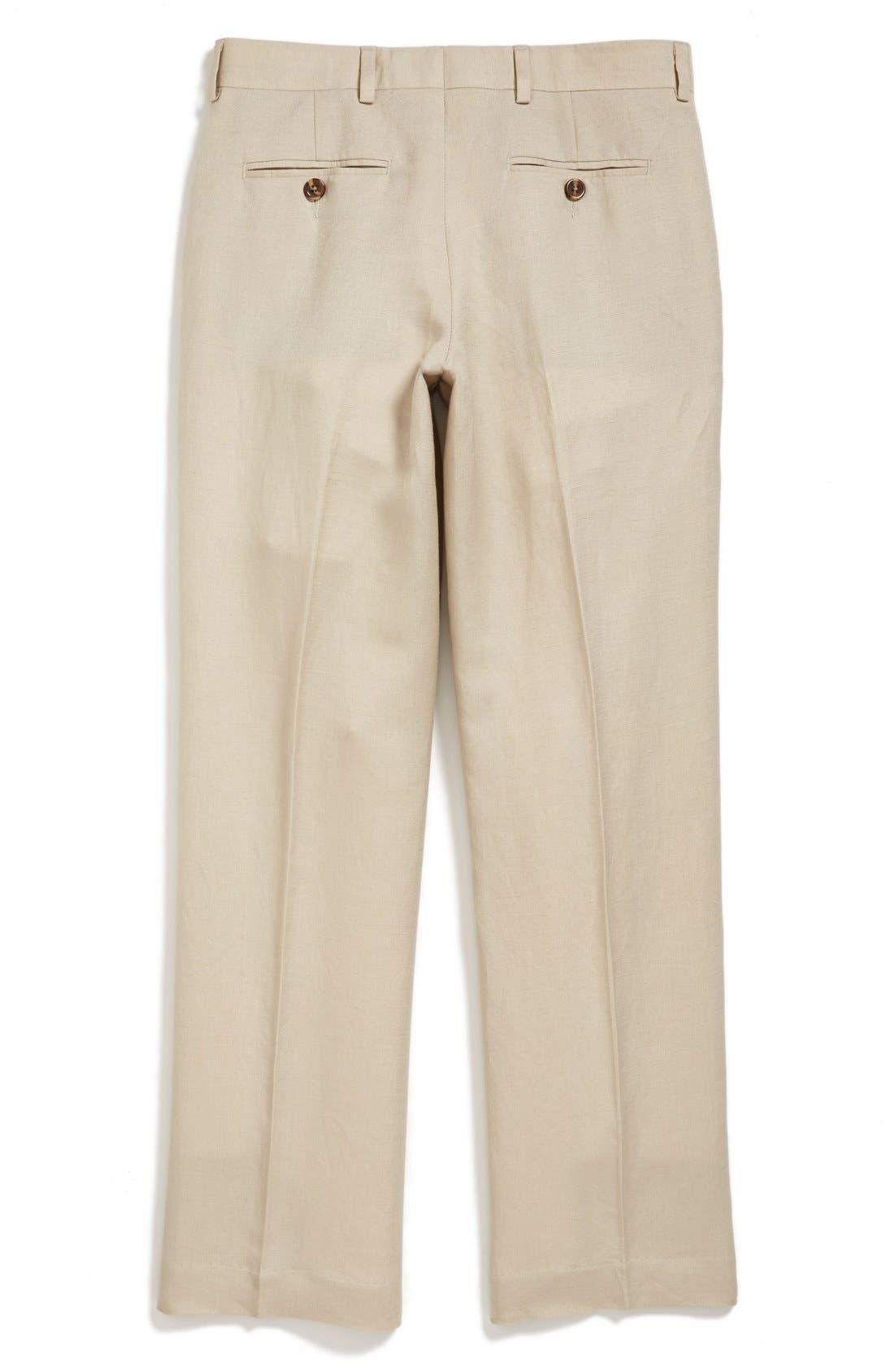 NORDSTROM,                             'Quentin' Linen Blend Trousers,                             Alternate thumbnail 2, color,                             250