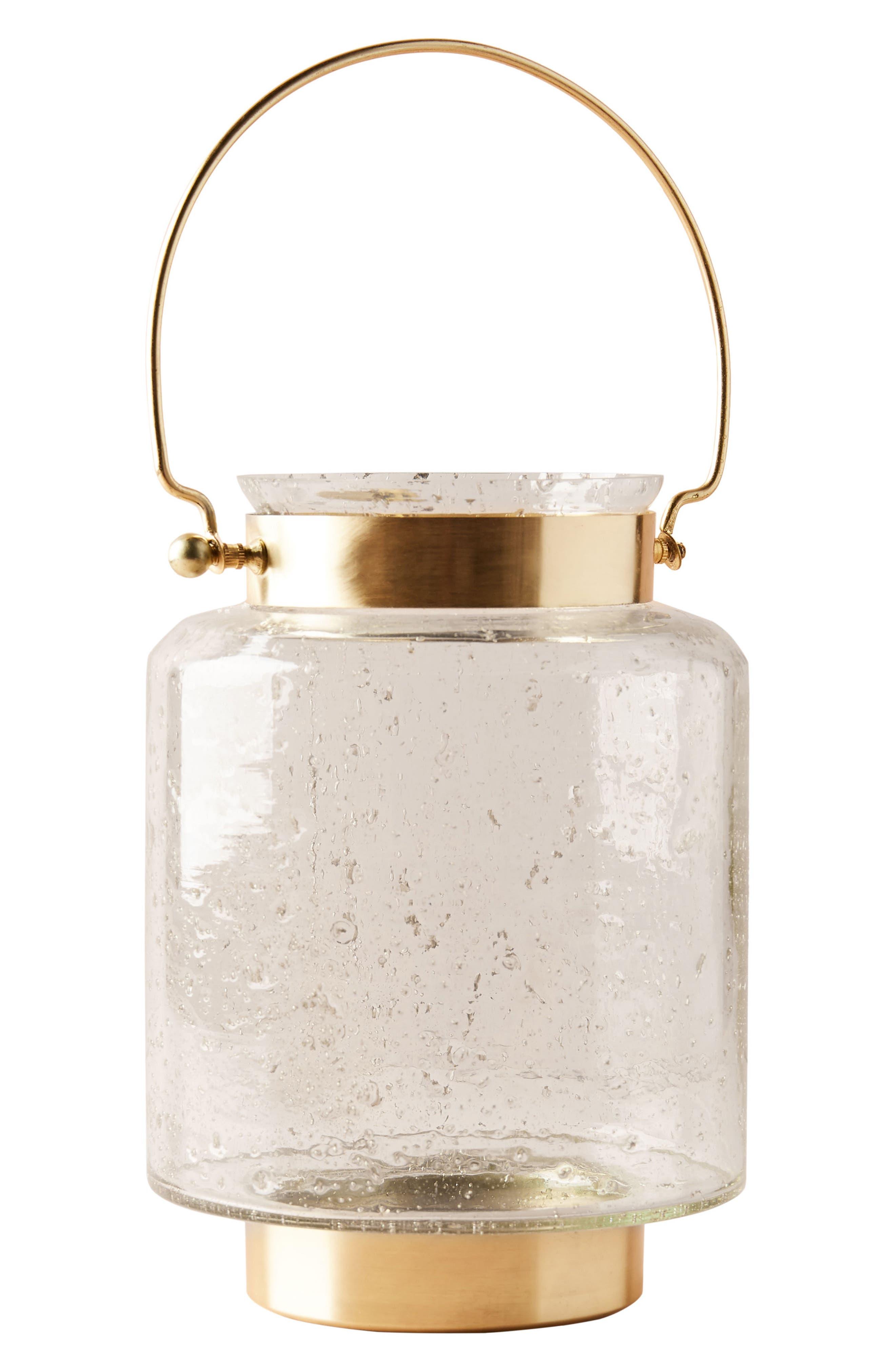 Gilded Lantern Candleholder,                             Alternate thumbnail 4, color,                             710