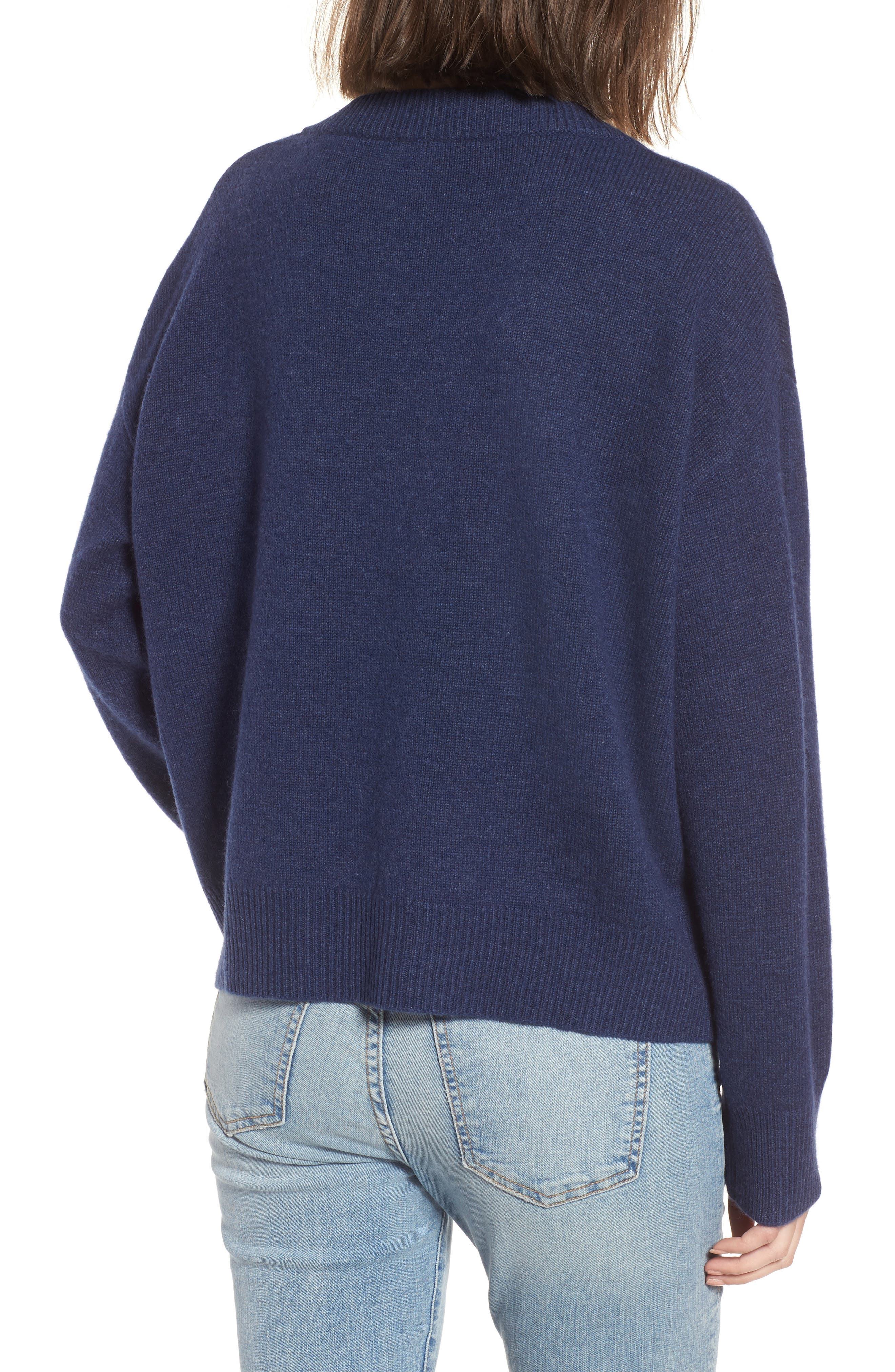 Olivia Lace-Up Sweater,                             Alternate thumbnail 7, color,