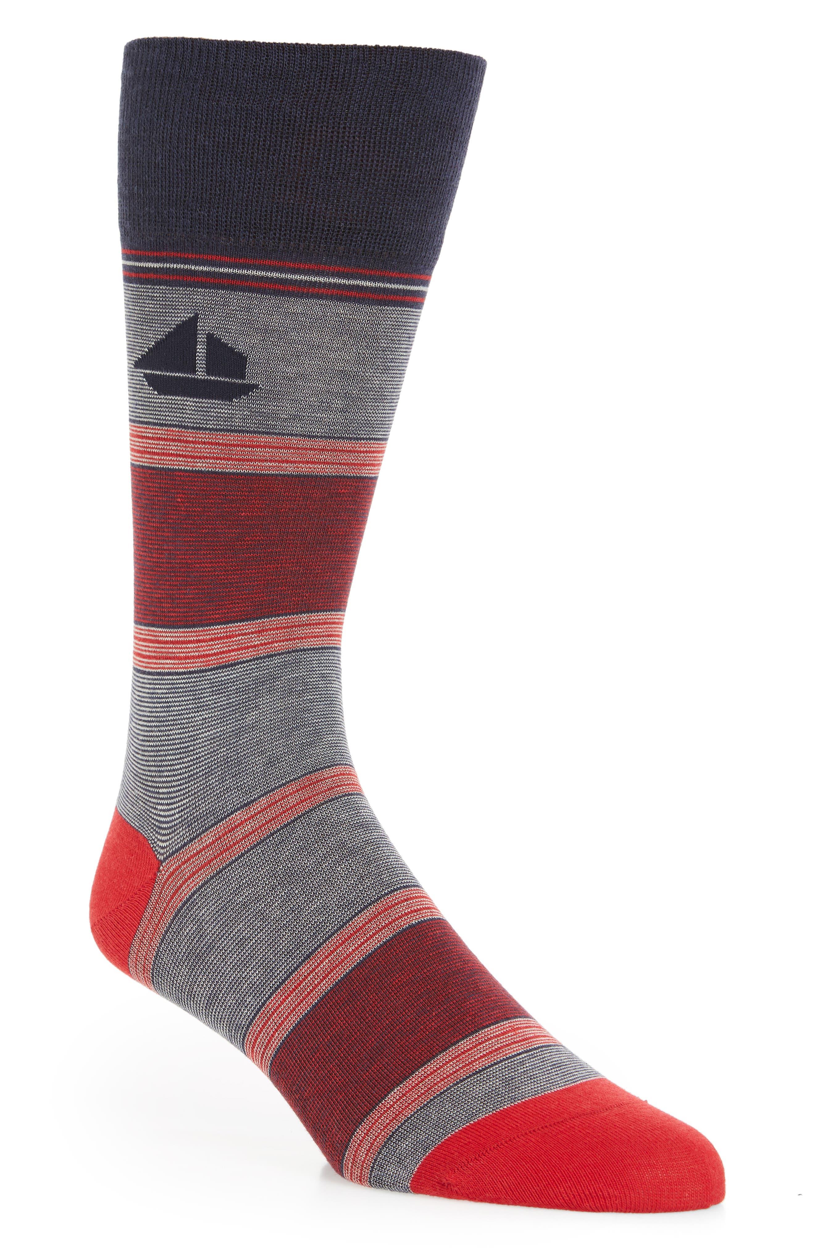 Twist Stripe Crew Socks,                             Main thumbnail 1, color,                             426