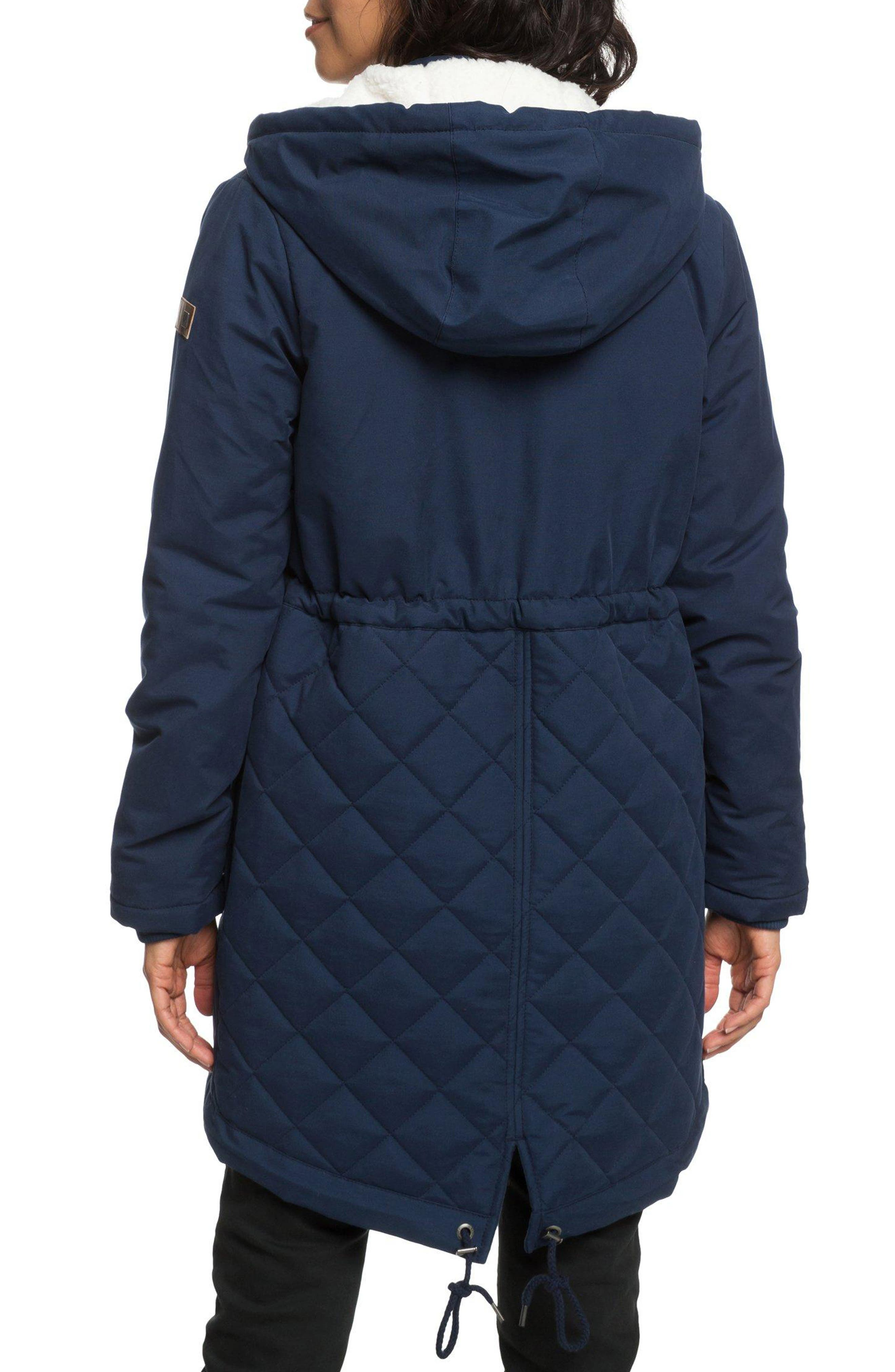 Slalom Chic Faux Shearling Trim Waterproof Parka,                             Alternate thumbnail 2, color,                             DRESS BLUES
