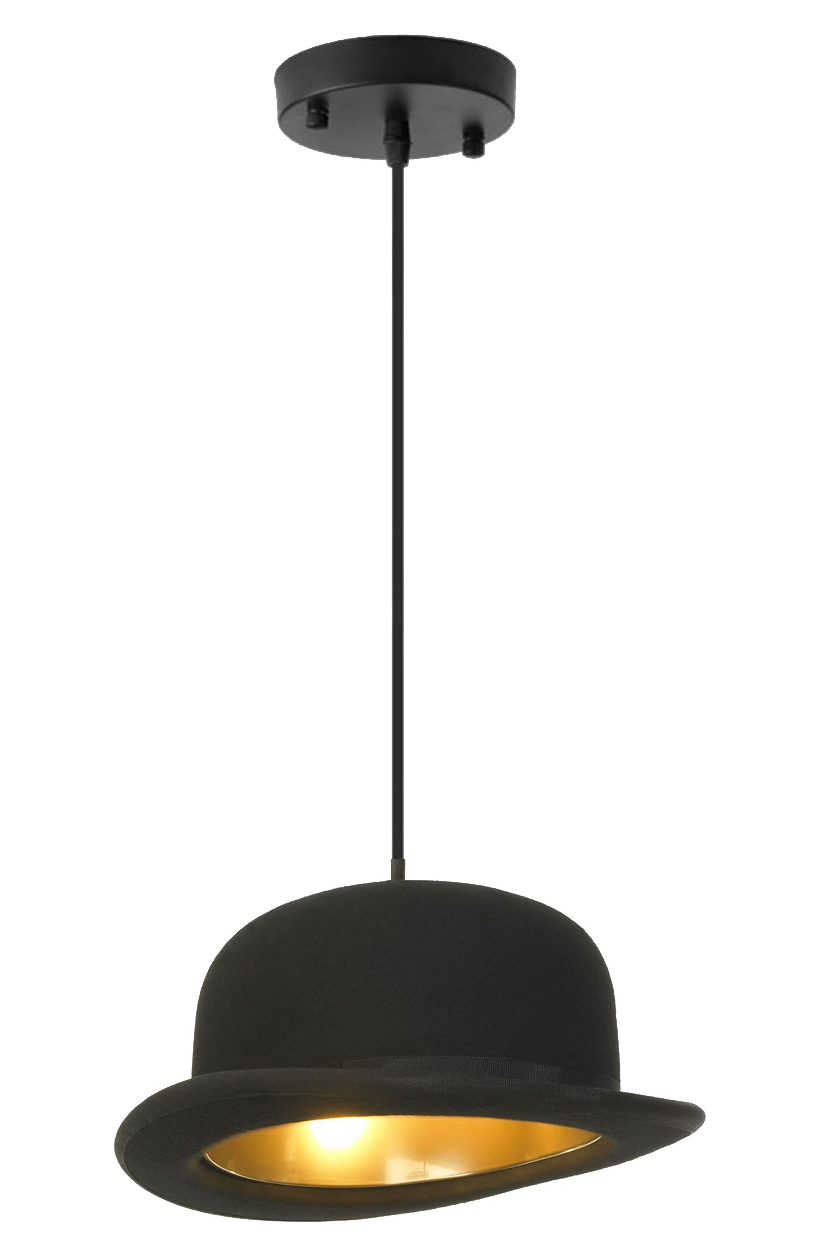 Blaxton Bowler Hat Ceiling Fixture,                             Main thumbnail 1, color,