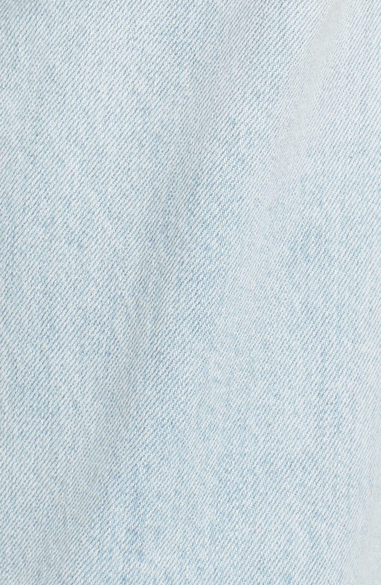Good Straight Pearls High Waist Jeans,                             Alternate thumbnail 6, color,                             401