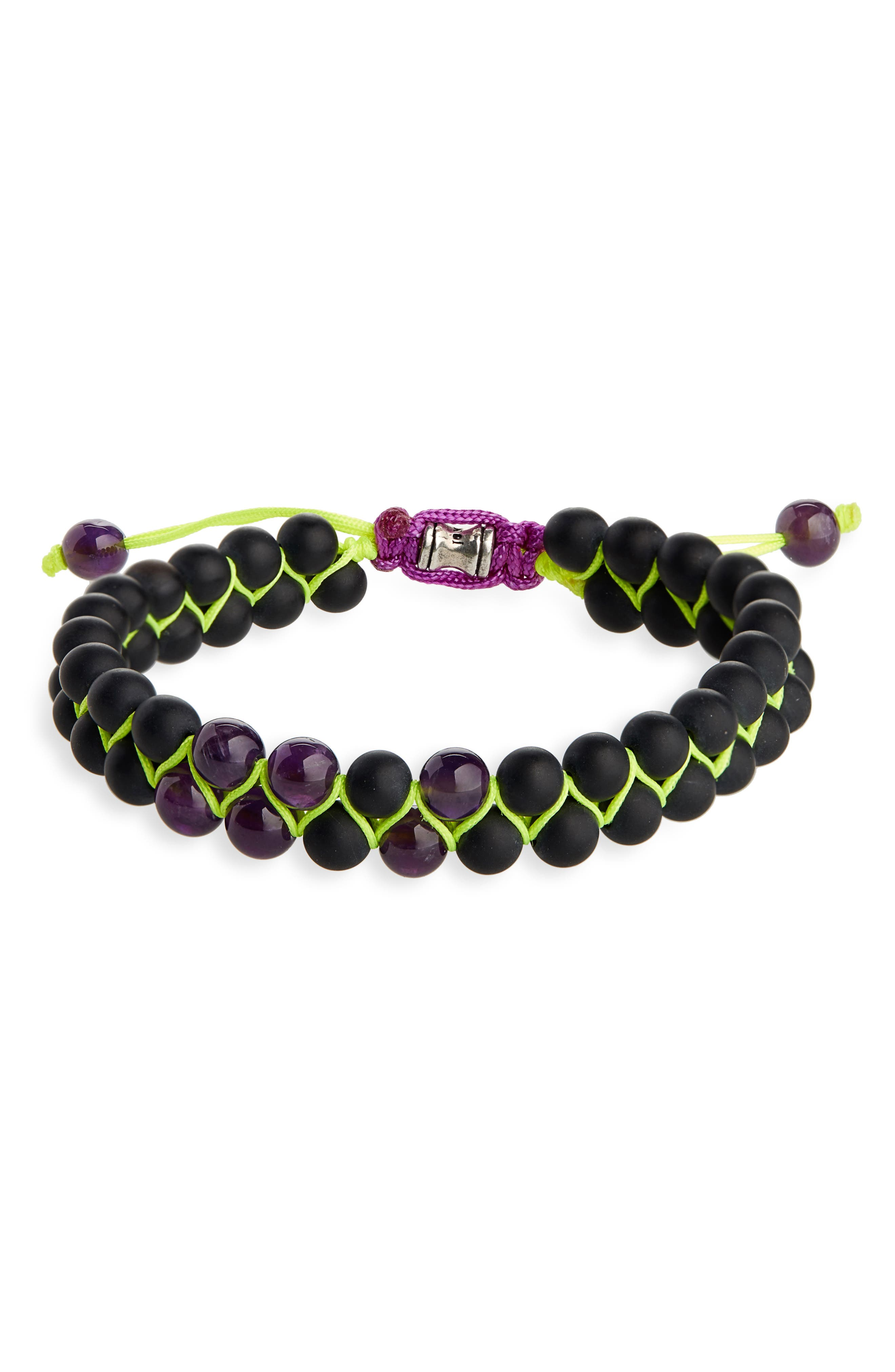 JONAS STUDIO Double Woven Bead Bracelet in Black