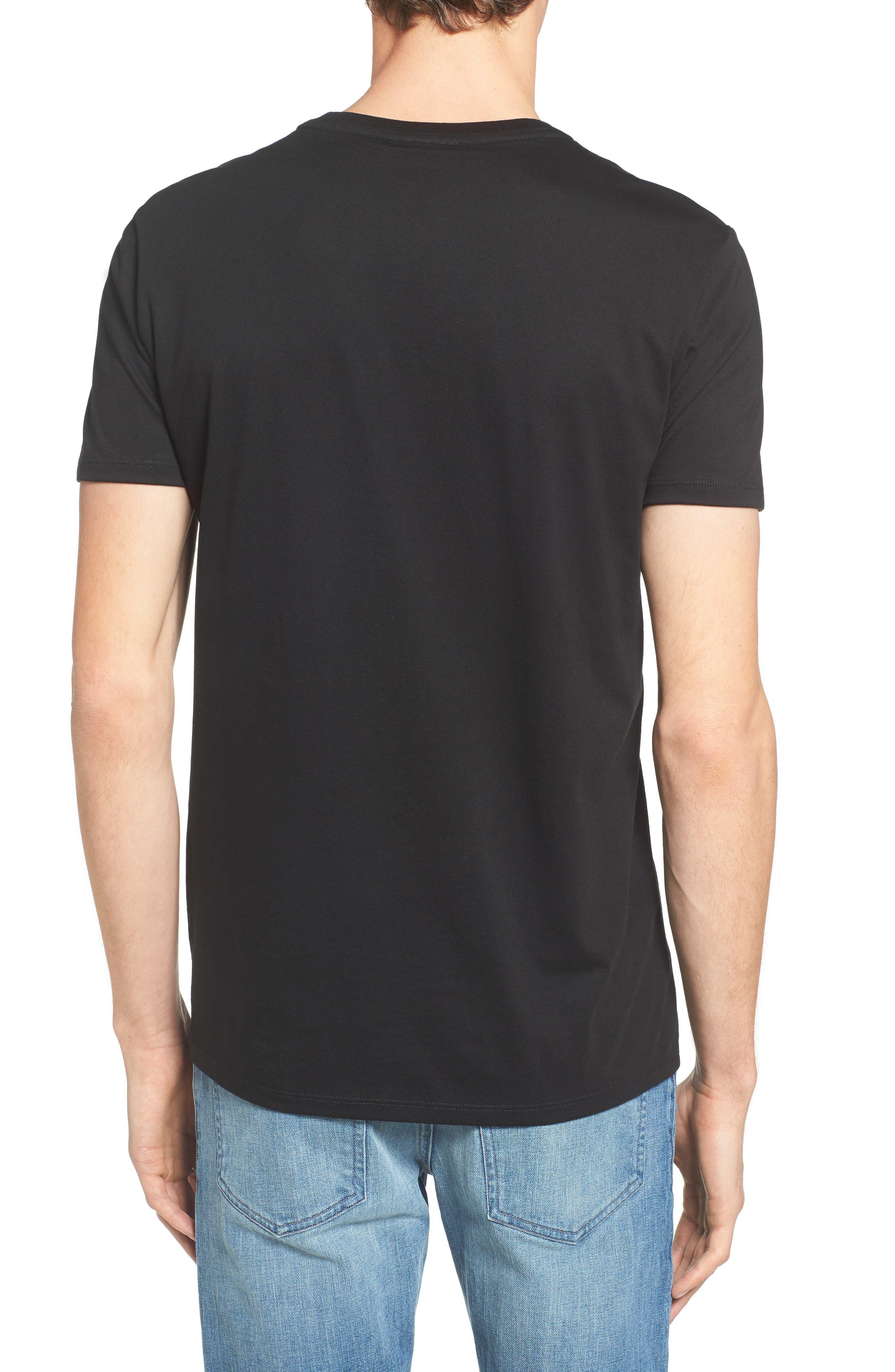 Pima Cotton T-Shirt,                             Alternate thumbnail 2, color,                             BLACK