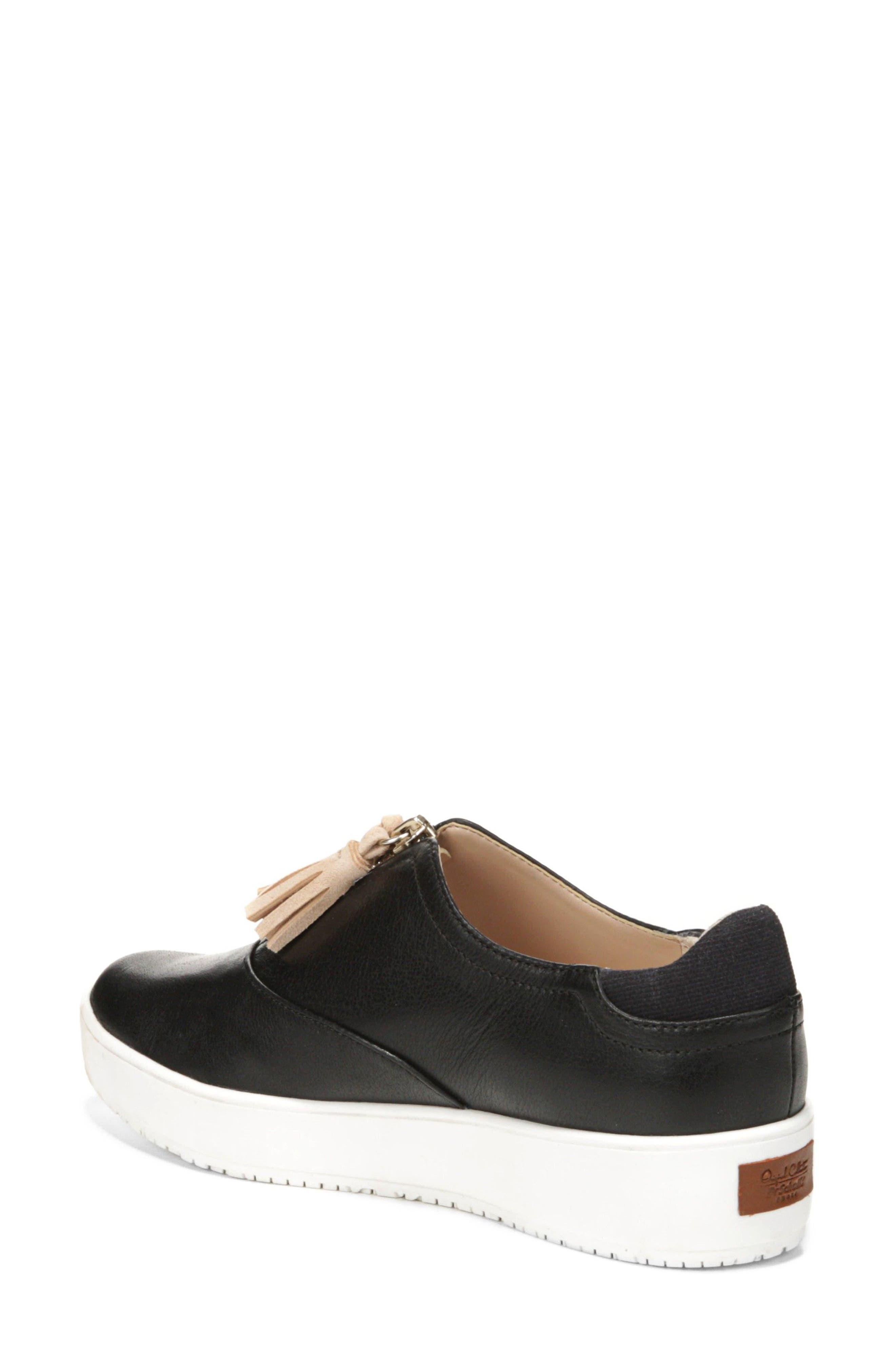 Blakely Tassel Zip Sneaker,                             Alternate thumbnail 2, color,                             001