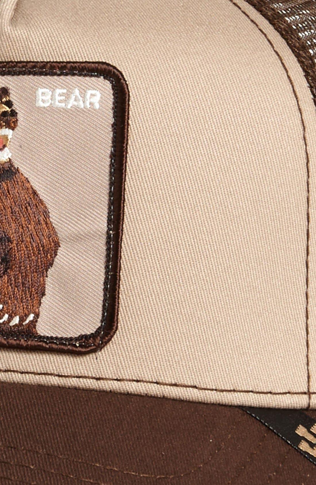 GOORIN BROTHERS,                             'Animal Farm - Lone Star Bear' Trucker Hat,                             Alternate thumbnail 3, color,                             201