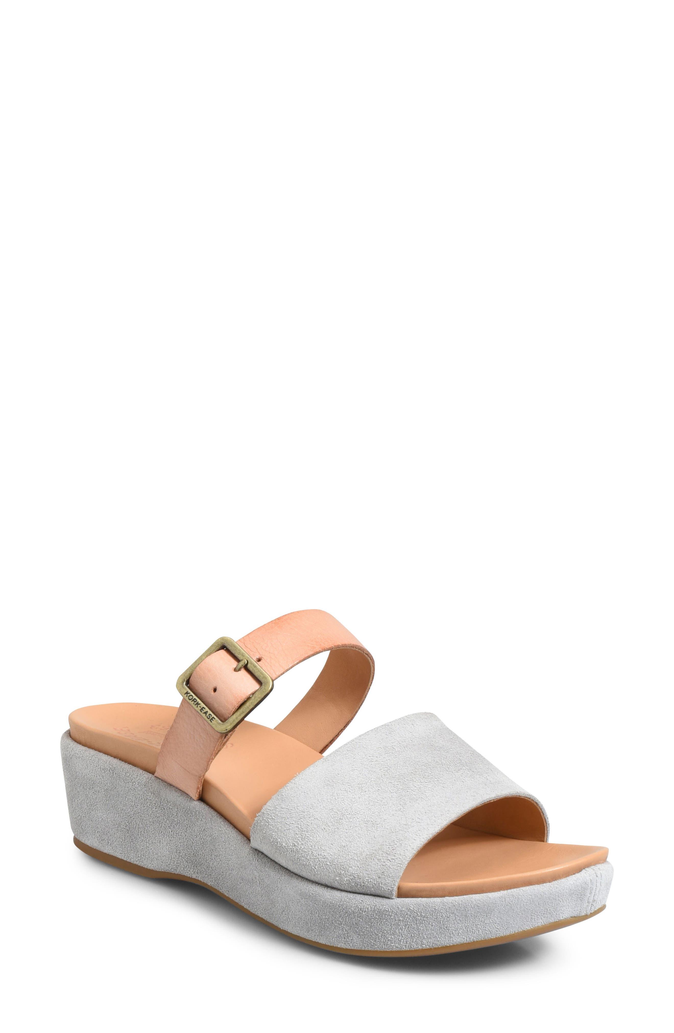Kork-Ease Bisti Wedge Slide Sandal, Grey