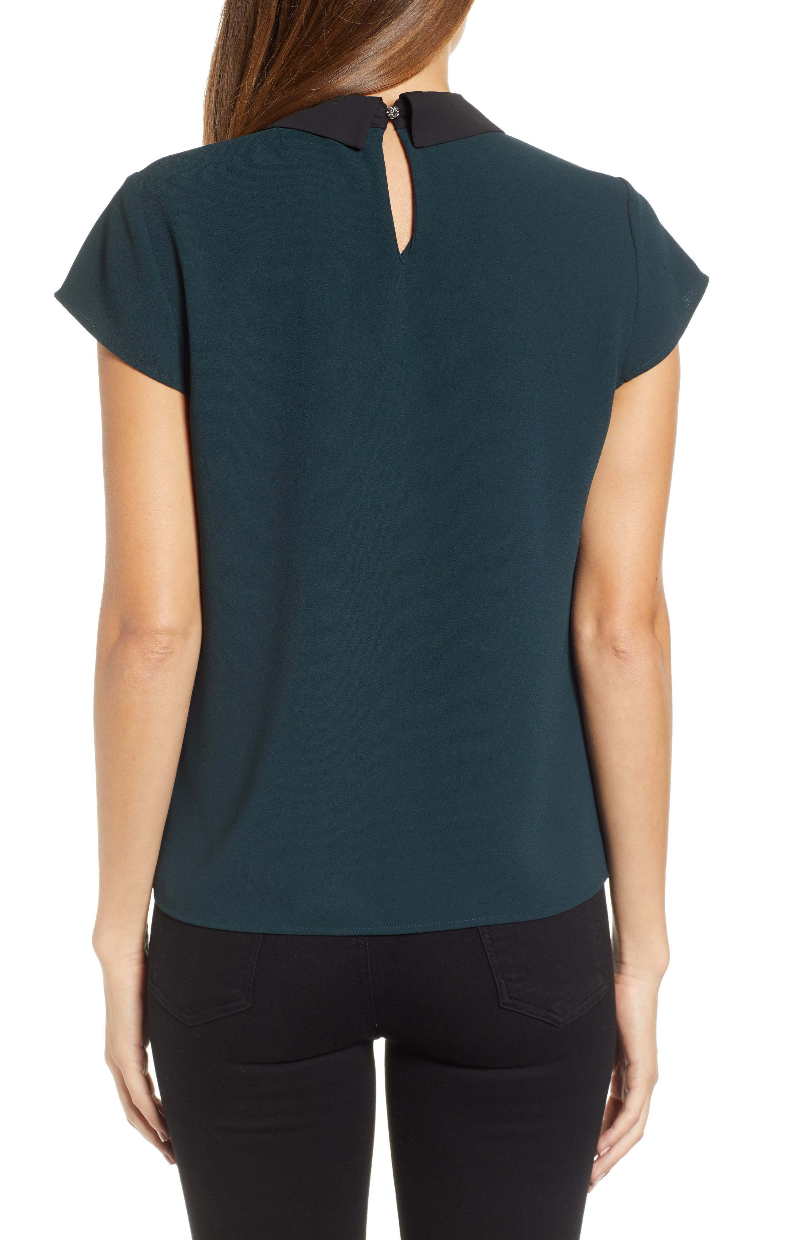 Embellished Bow Collar Blouse,                             Alternate thumbnail 2, color,                             305