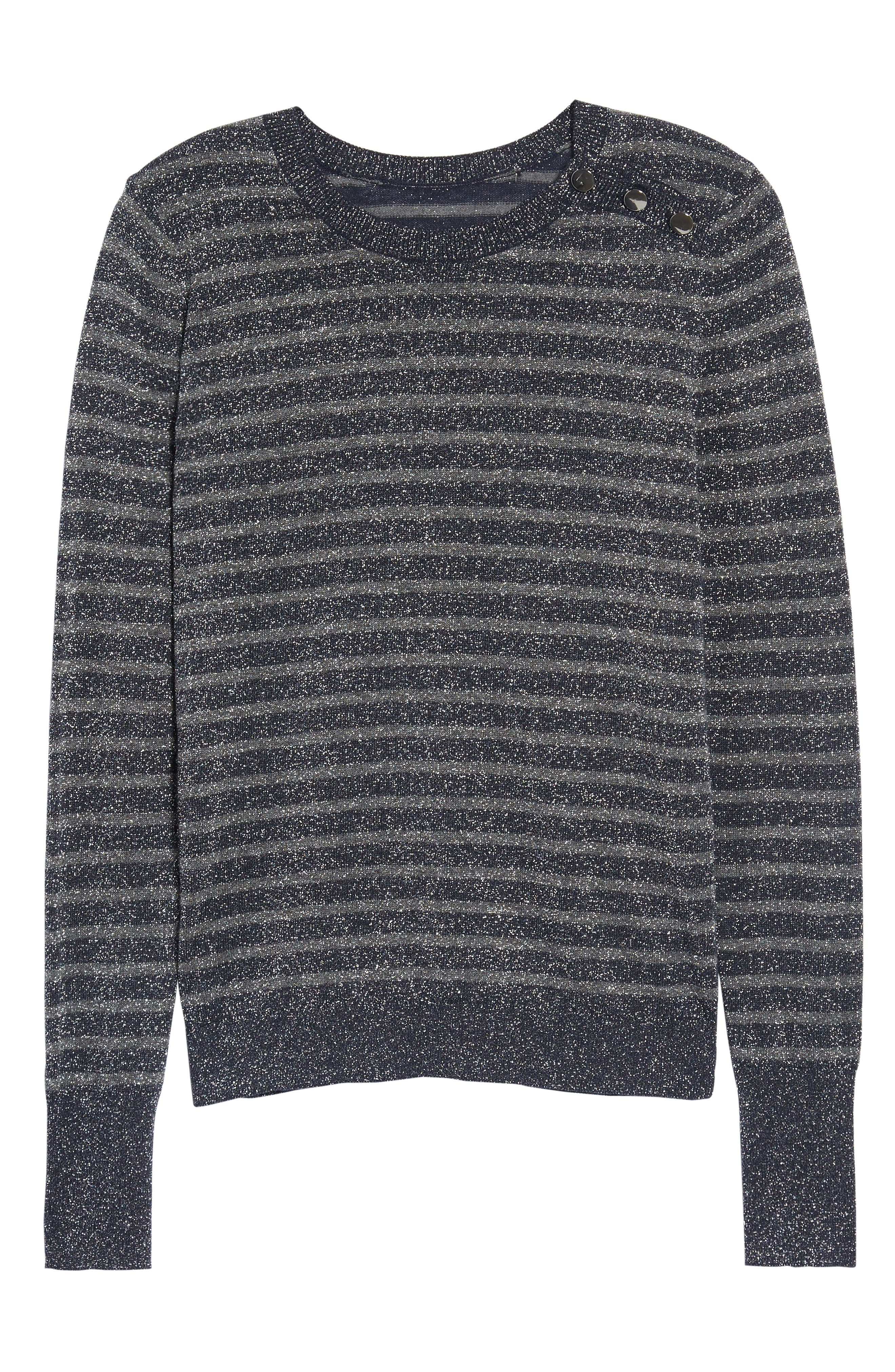 Sparkle Stripe Sweater,                             Alternate thumbnail 6, color,                             020