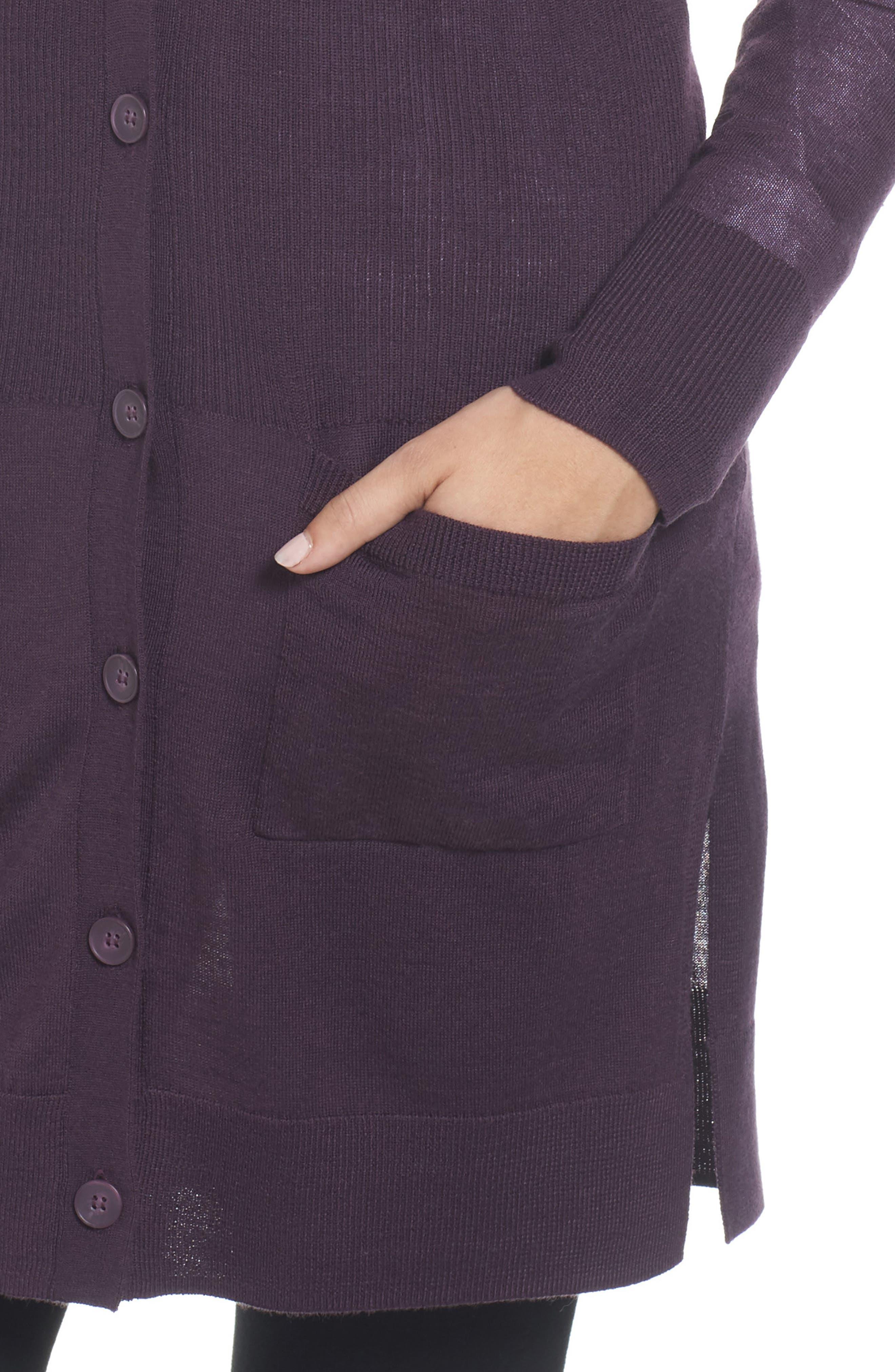 Rib Knit Wool Blend Cardigan,                             Alternate thumbnail 74, color,
