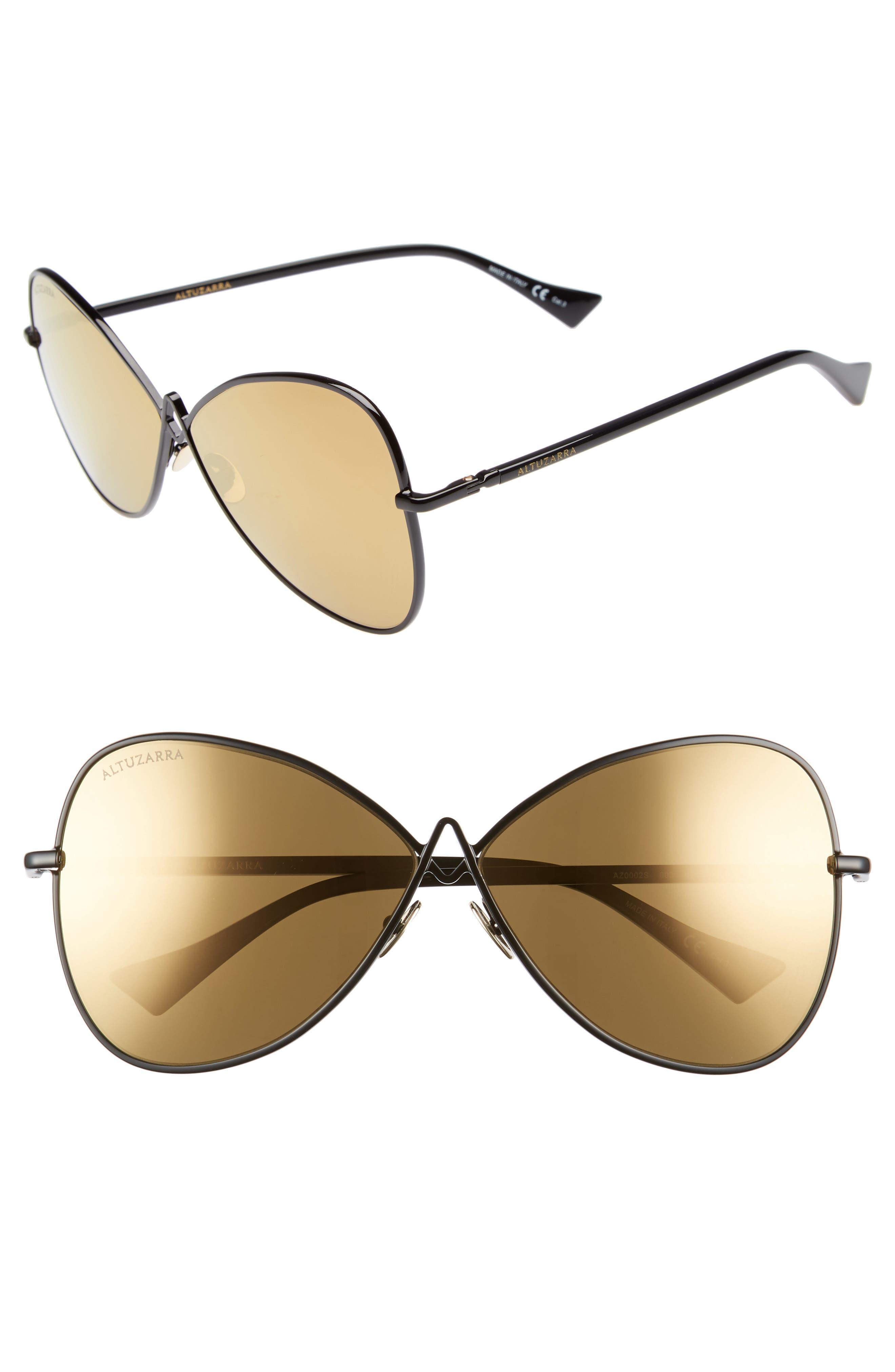 62mm Sunglasses,                         Main,                         color, BLACK