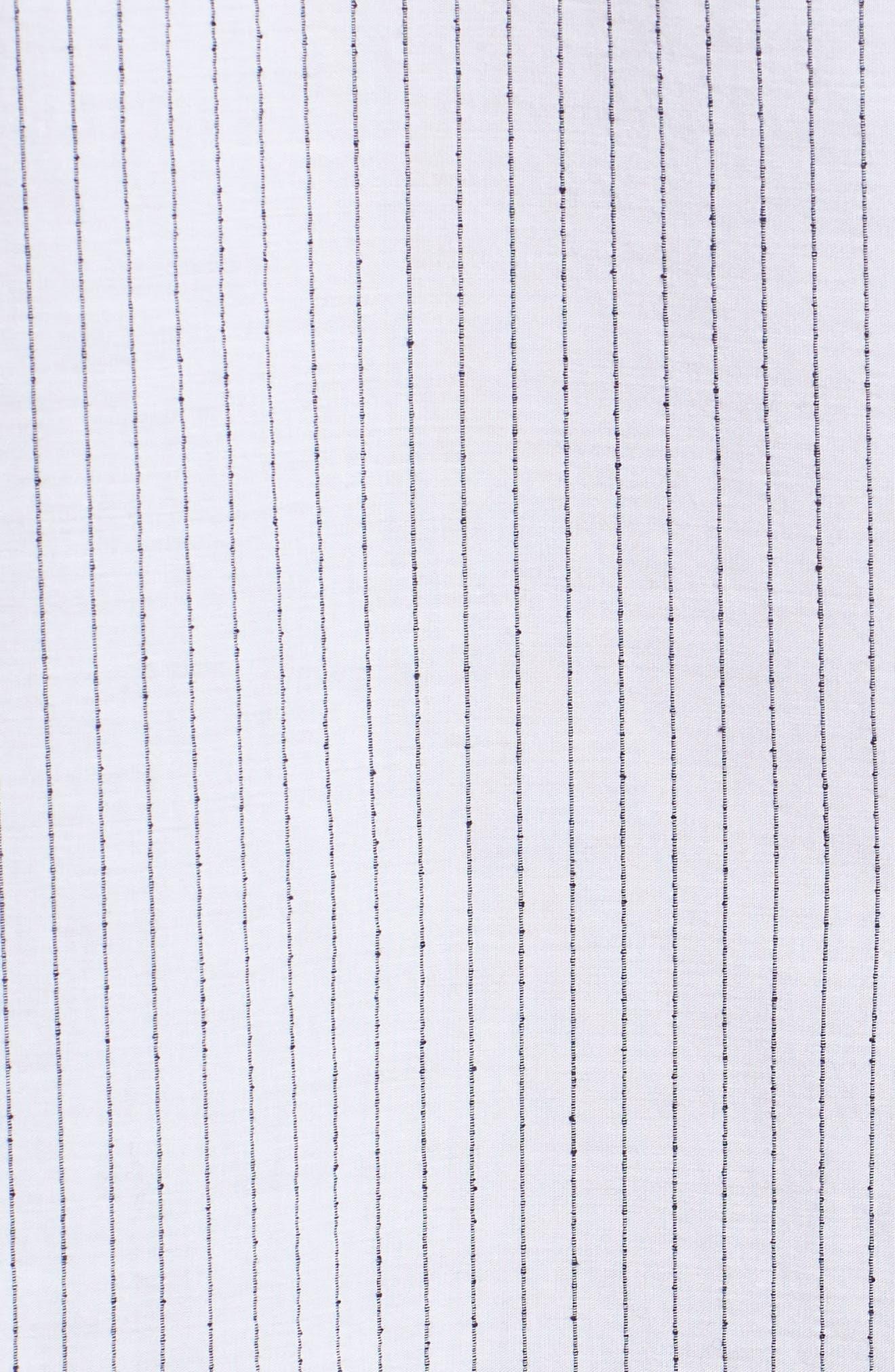 Ery Stripe Classic Fit Sport Shirt,                             Alternate thumbnail 5, color,                             WHITE