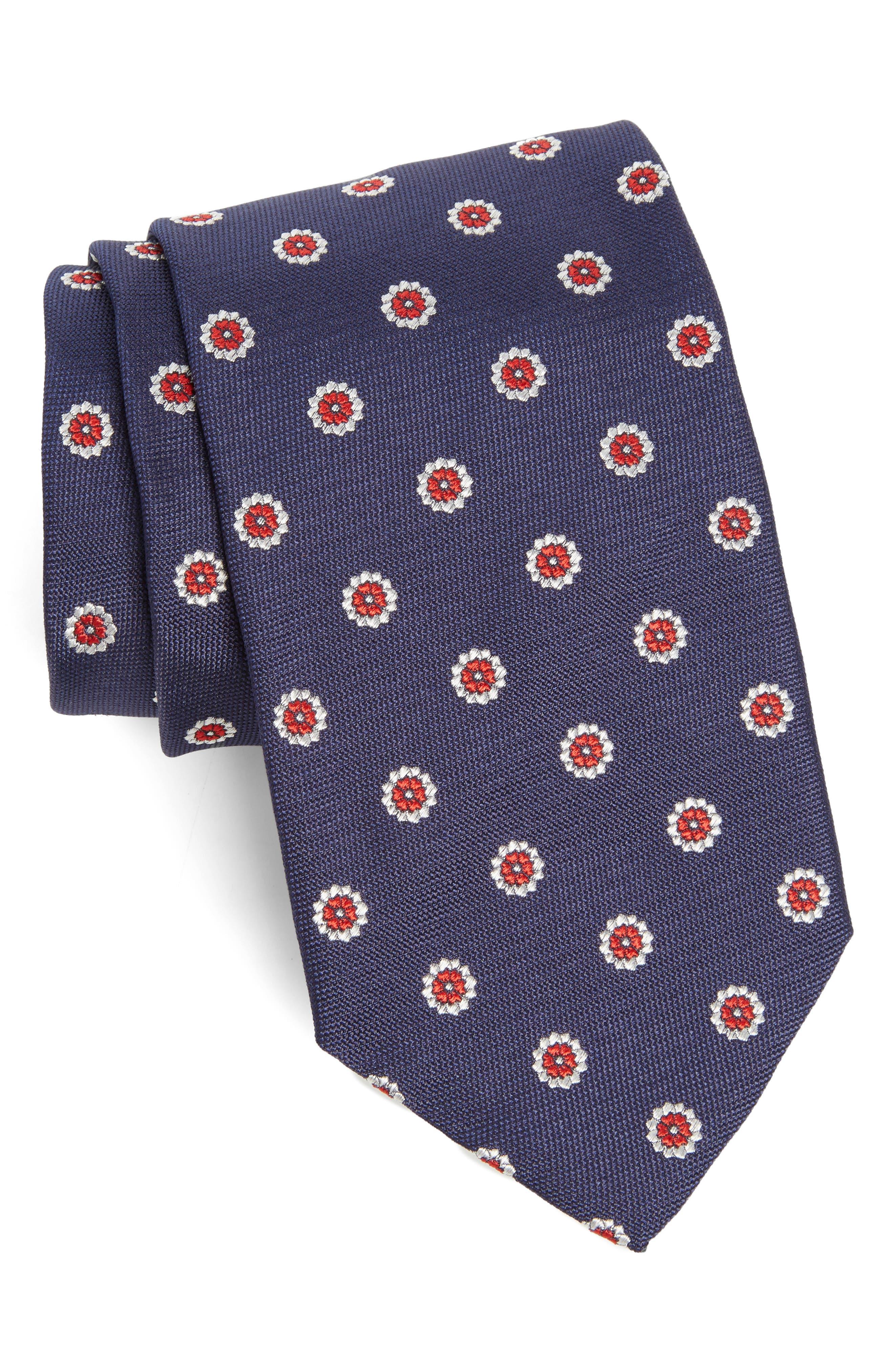 Medallion Silk Tie,                         Main,                         color, 419