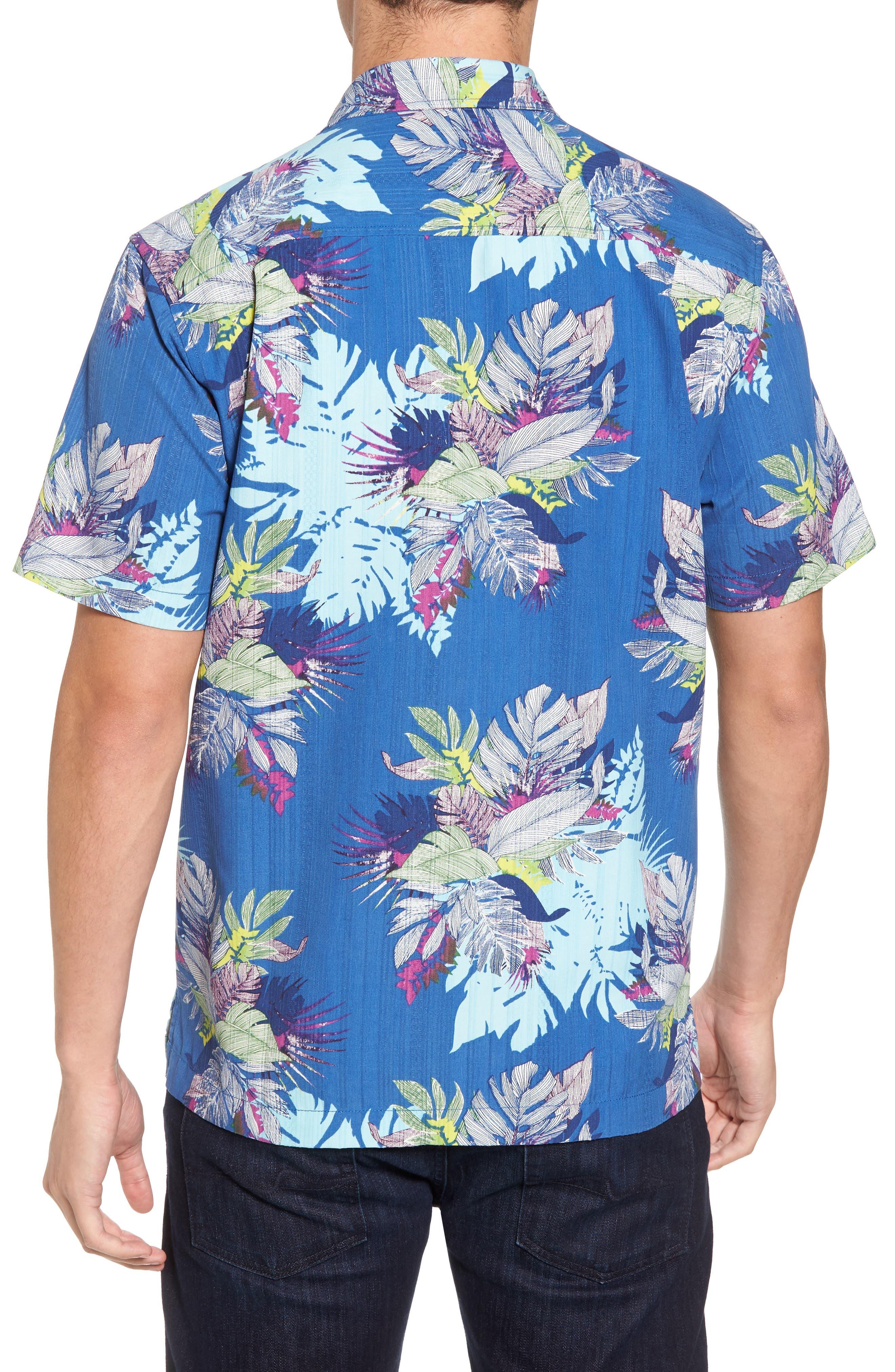 Fronds Bouquet Classic Fit Silk Blend Sport Shirt,                             Alternate thumbnail 2, color,                             400