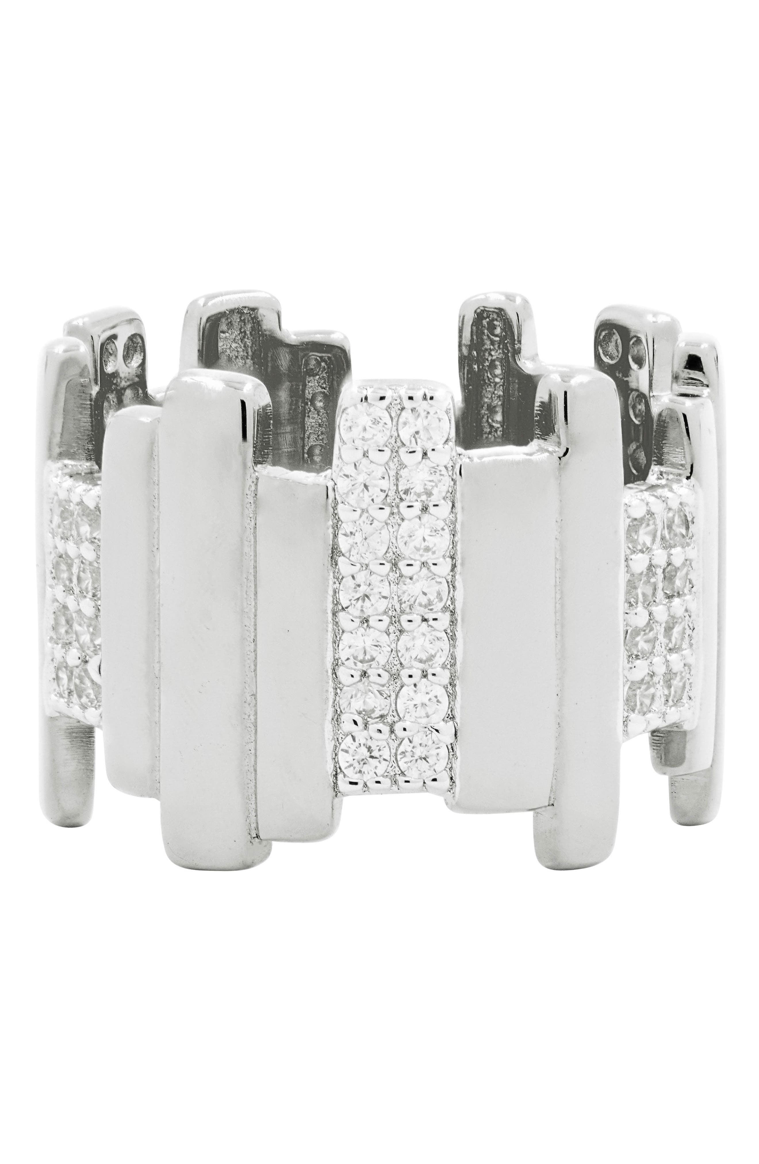 Radiance Cubic Zirconia Ring,                             Main thumbnail 1, color,                             SILVER