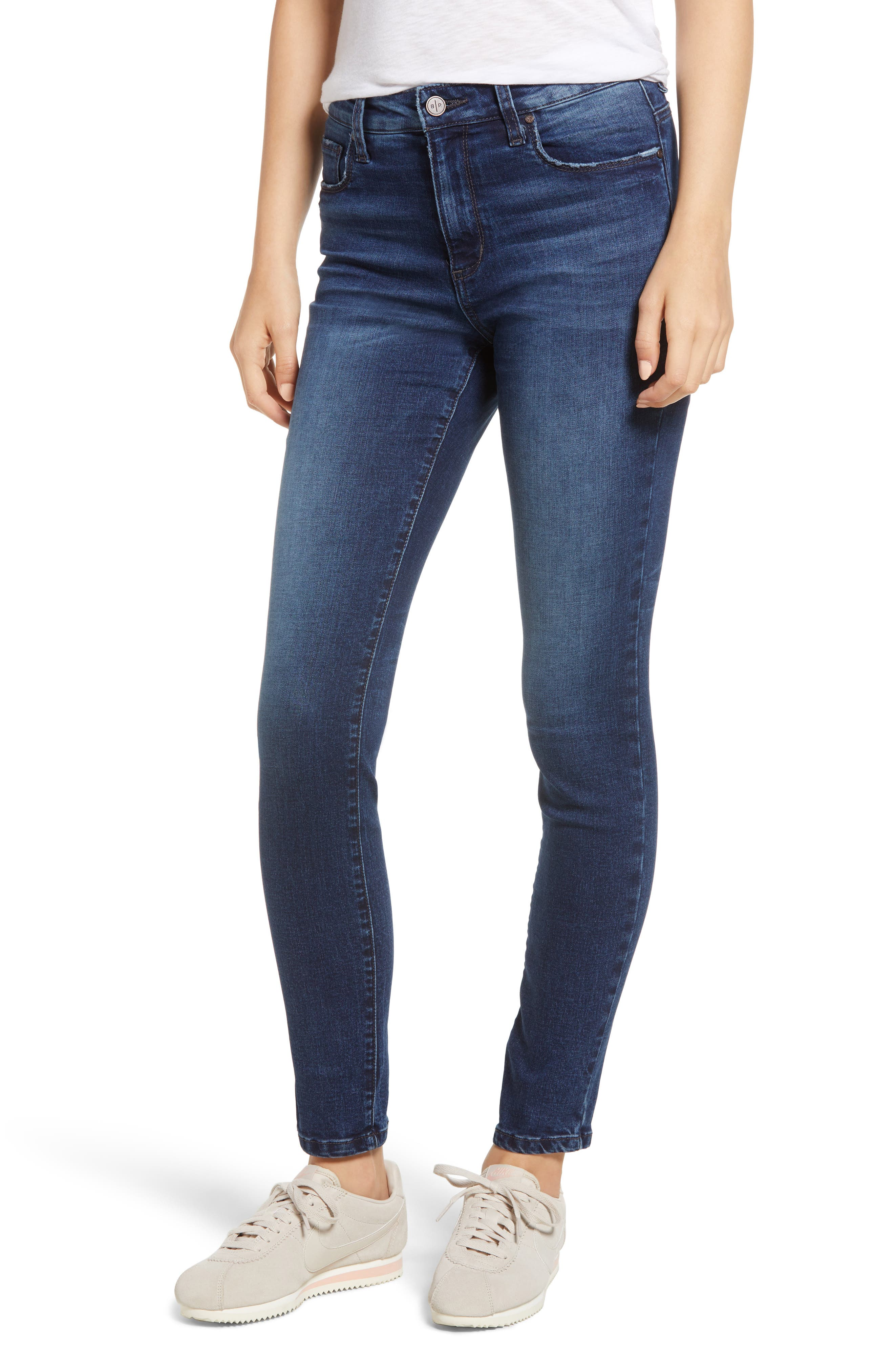 BP.,                             High Rise Skinny Ankle Jeans,                             Main thumbnail 1, color,                             MEDIUM WASH