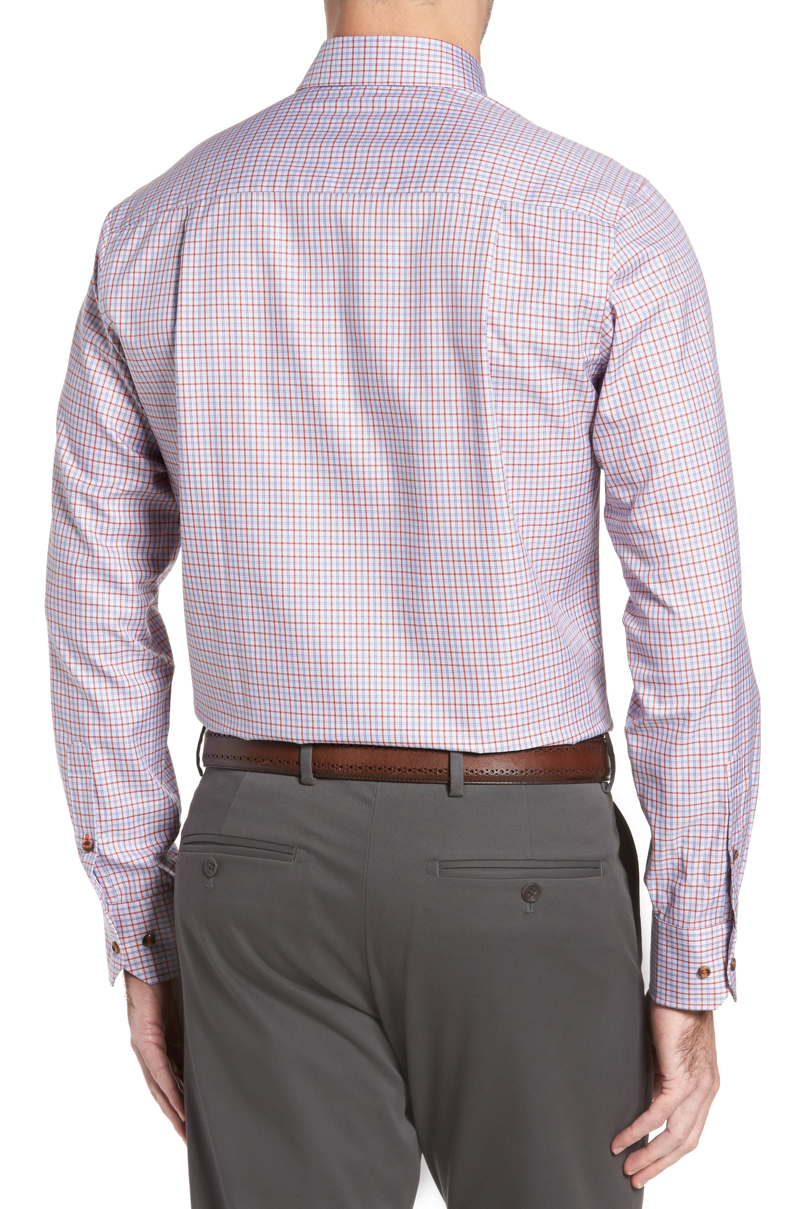 Regular Fit Plaid Sport Shirt,                             Alternate thumbnail 2, color,                             804