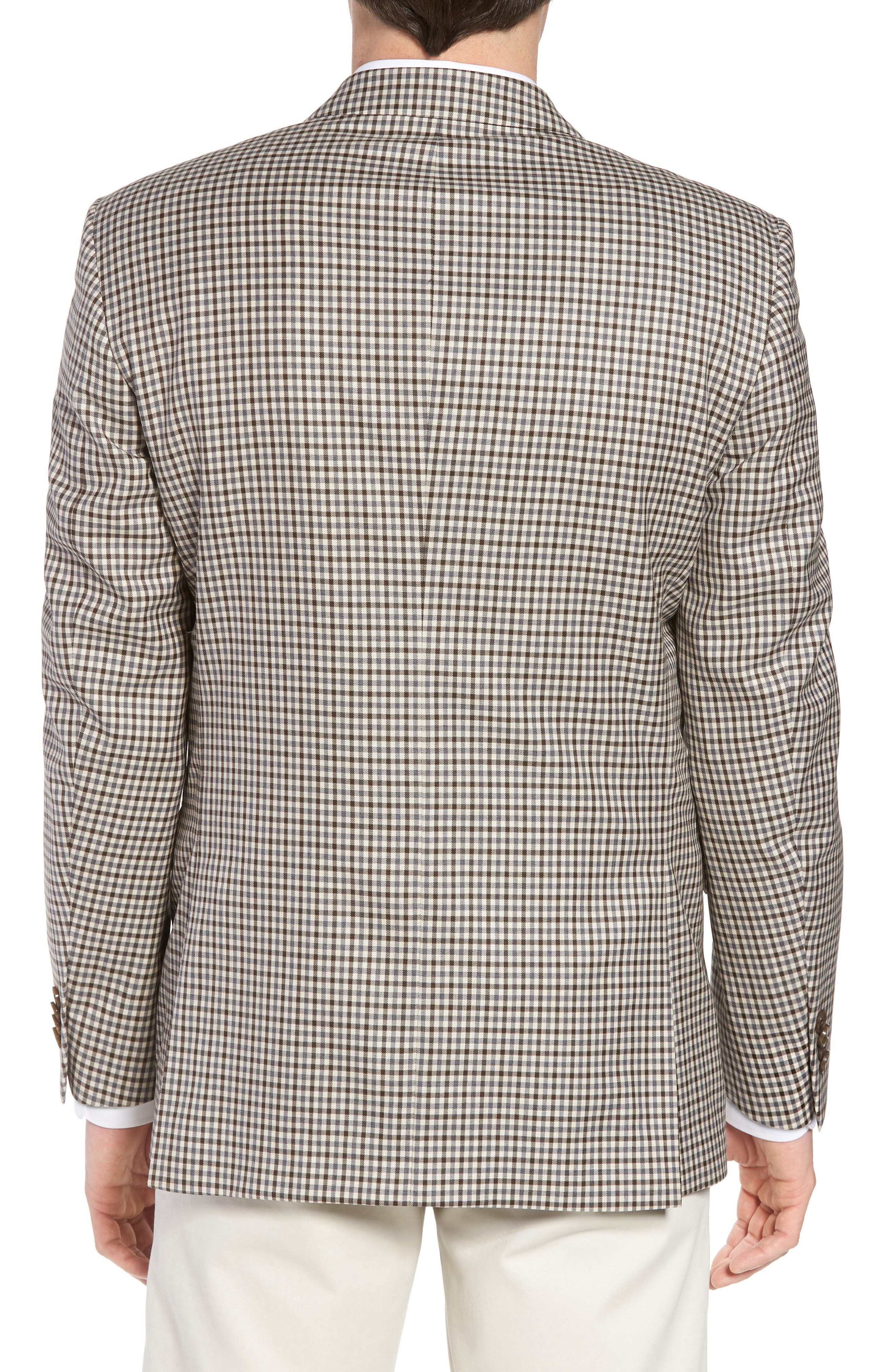 Classic Fit Check Wool Sport Coat,                             Alternate thumbnail 2, color,