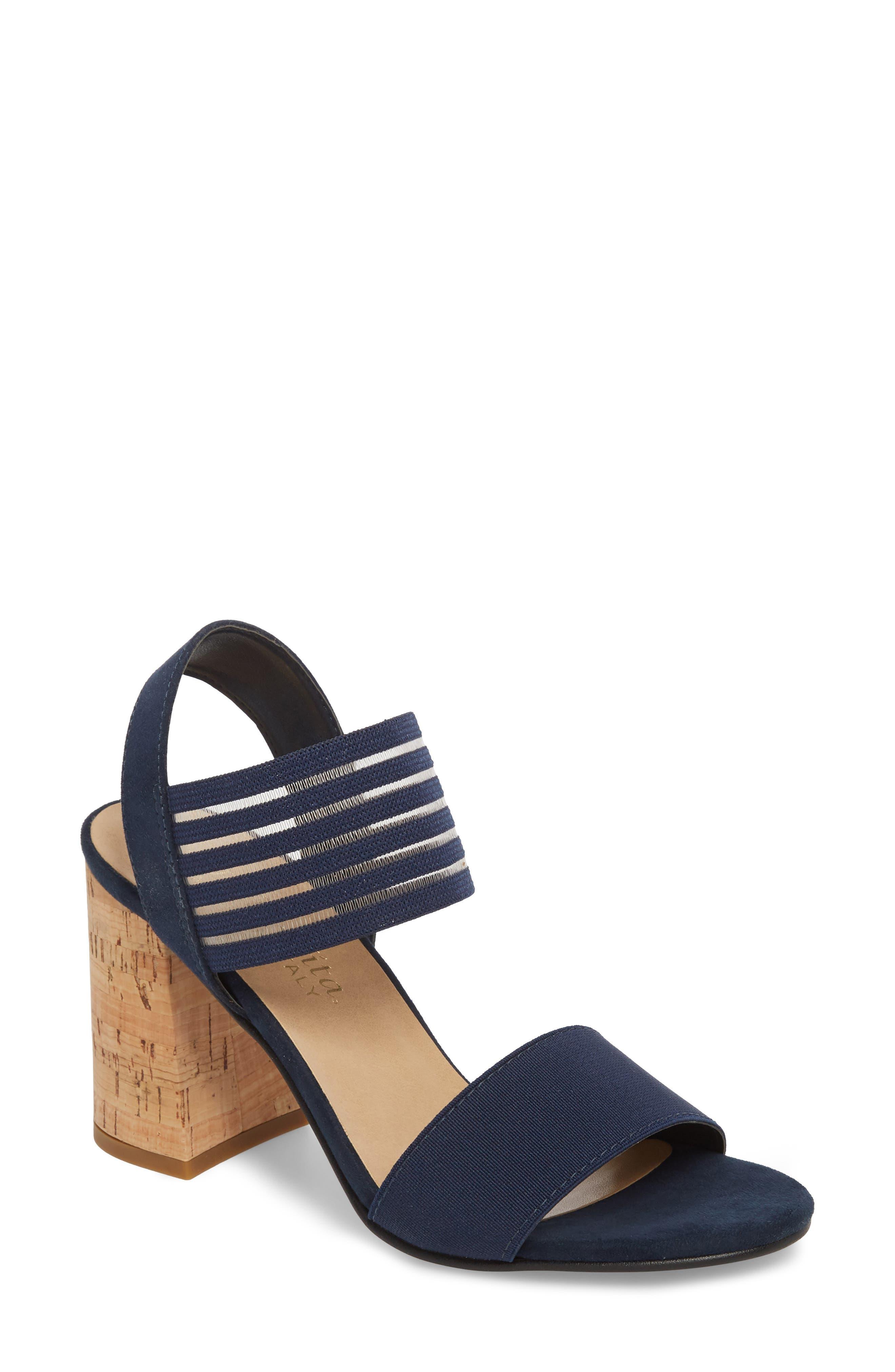 Bella Vita Dan Block Heel Sandal, Blue