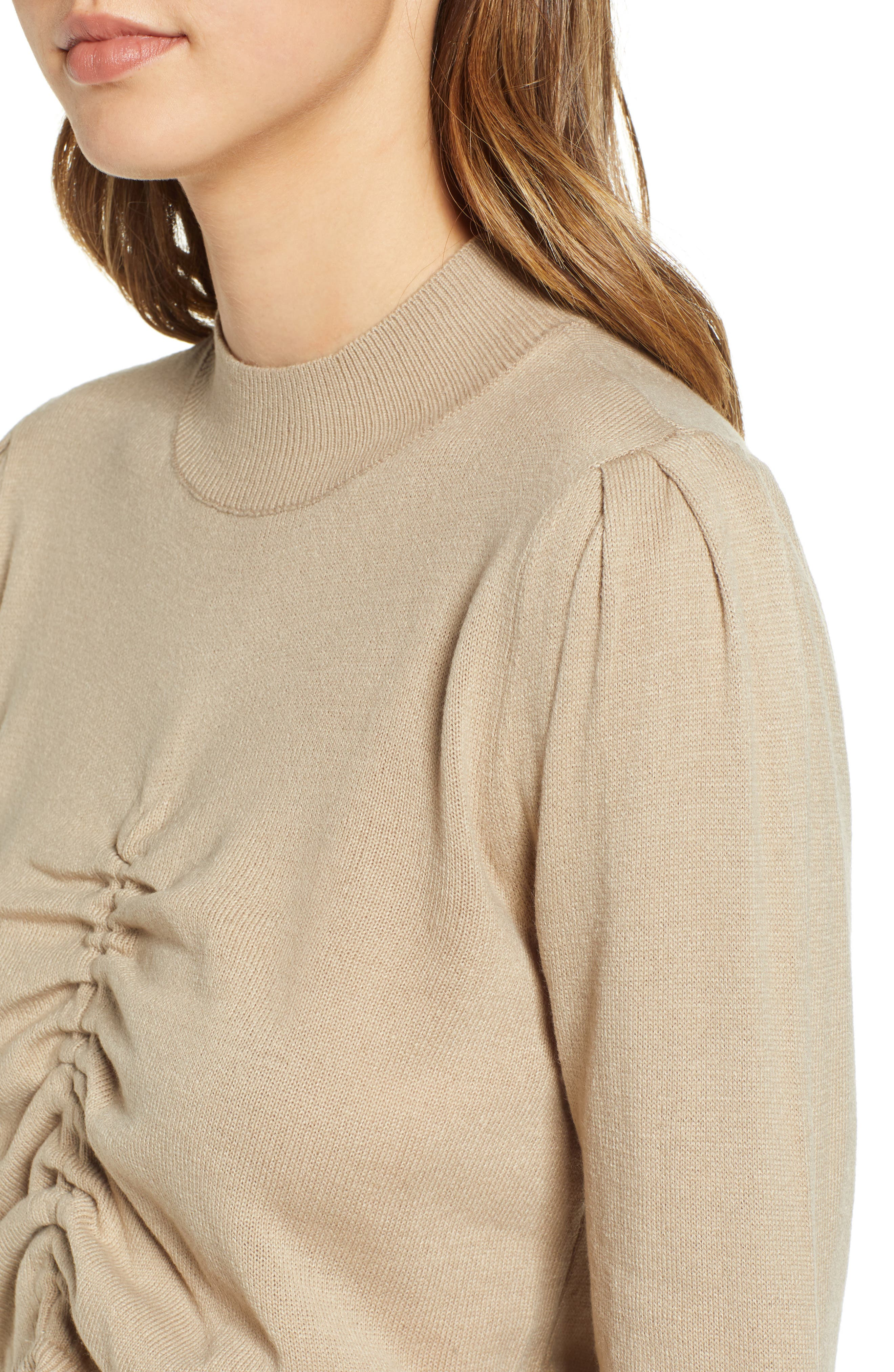 Ruched Front Sweater,                             Alternate thumbnail 4, color,                             250