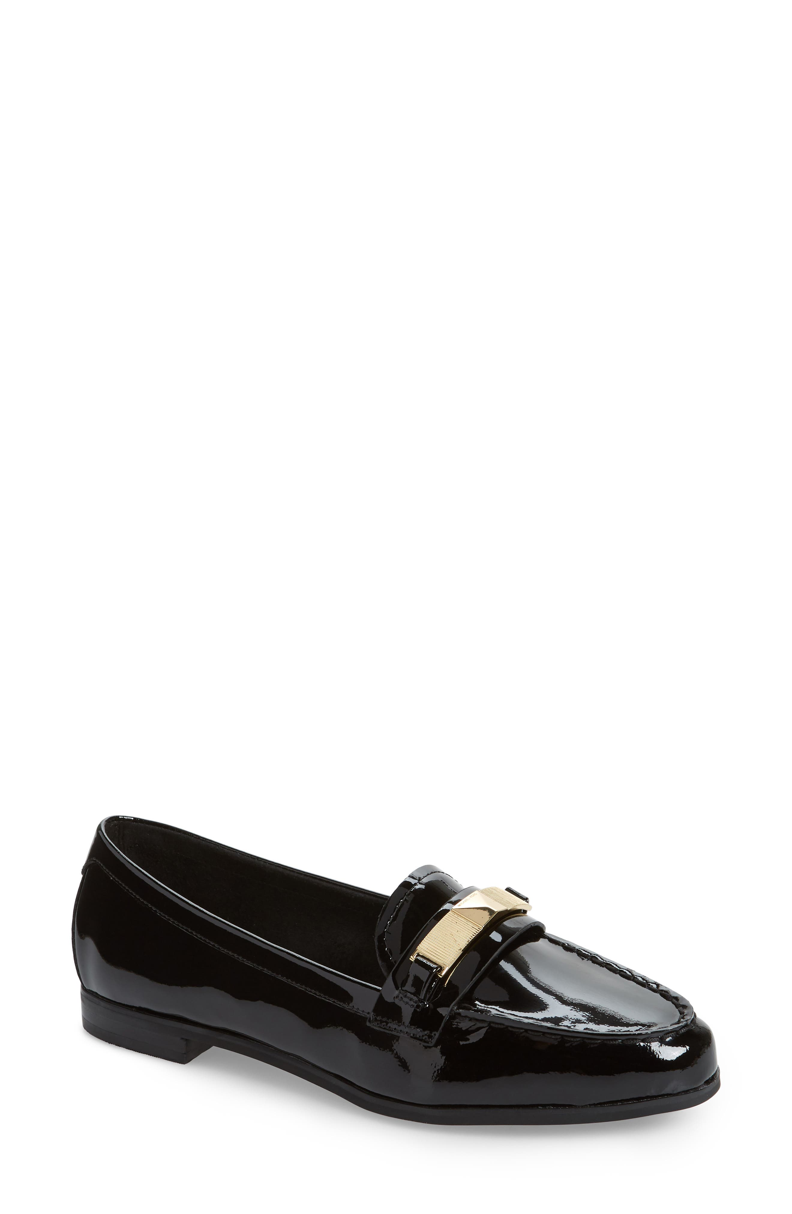 Paloma Loafer in Black Patent
