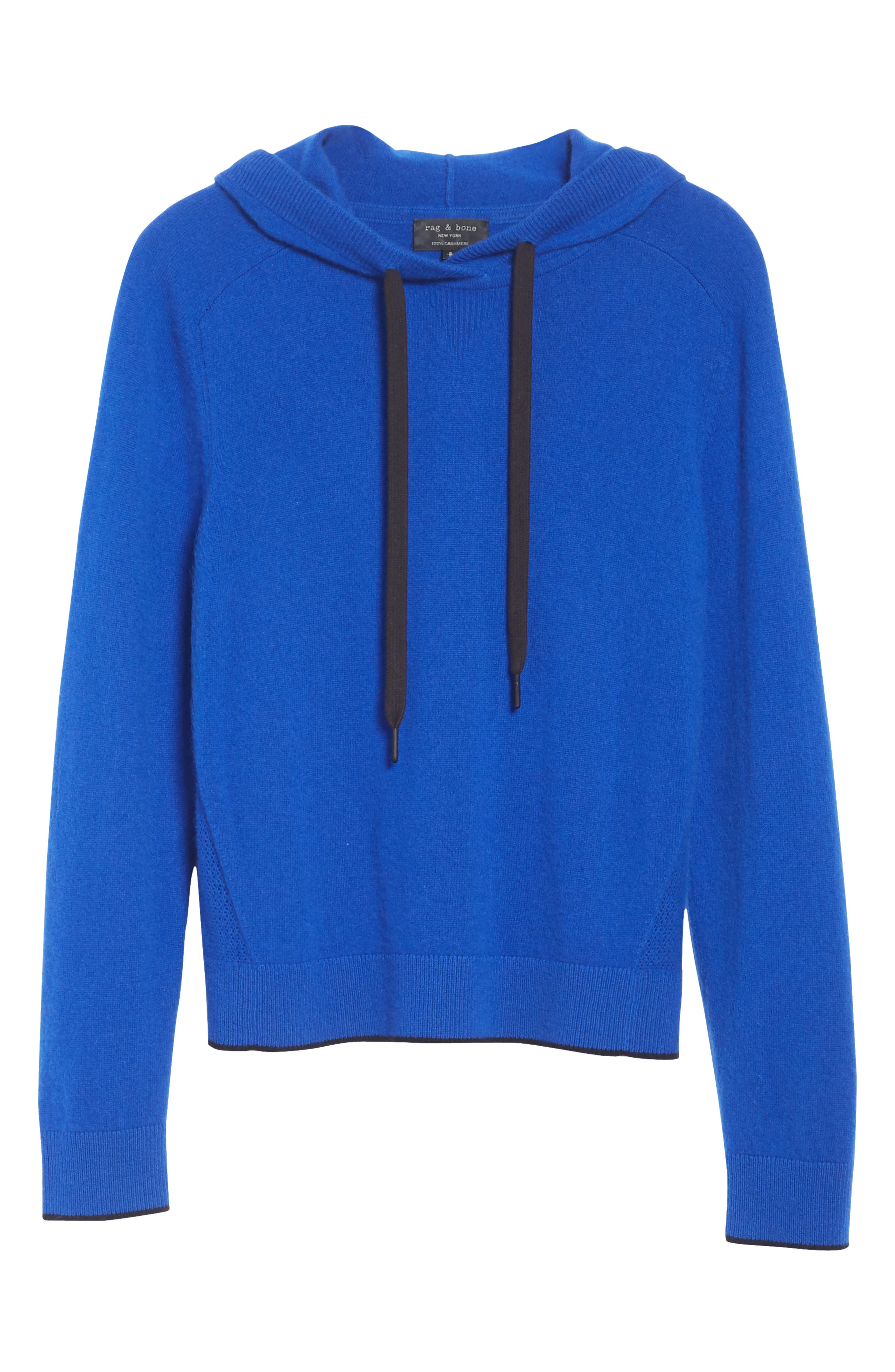 Yorke Cashmere Hoodie,                             Alternate thumbnail 6, color,                             403