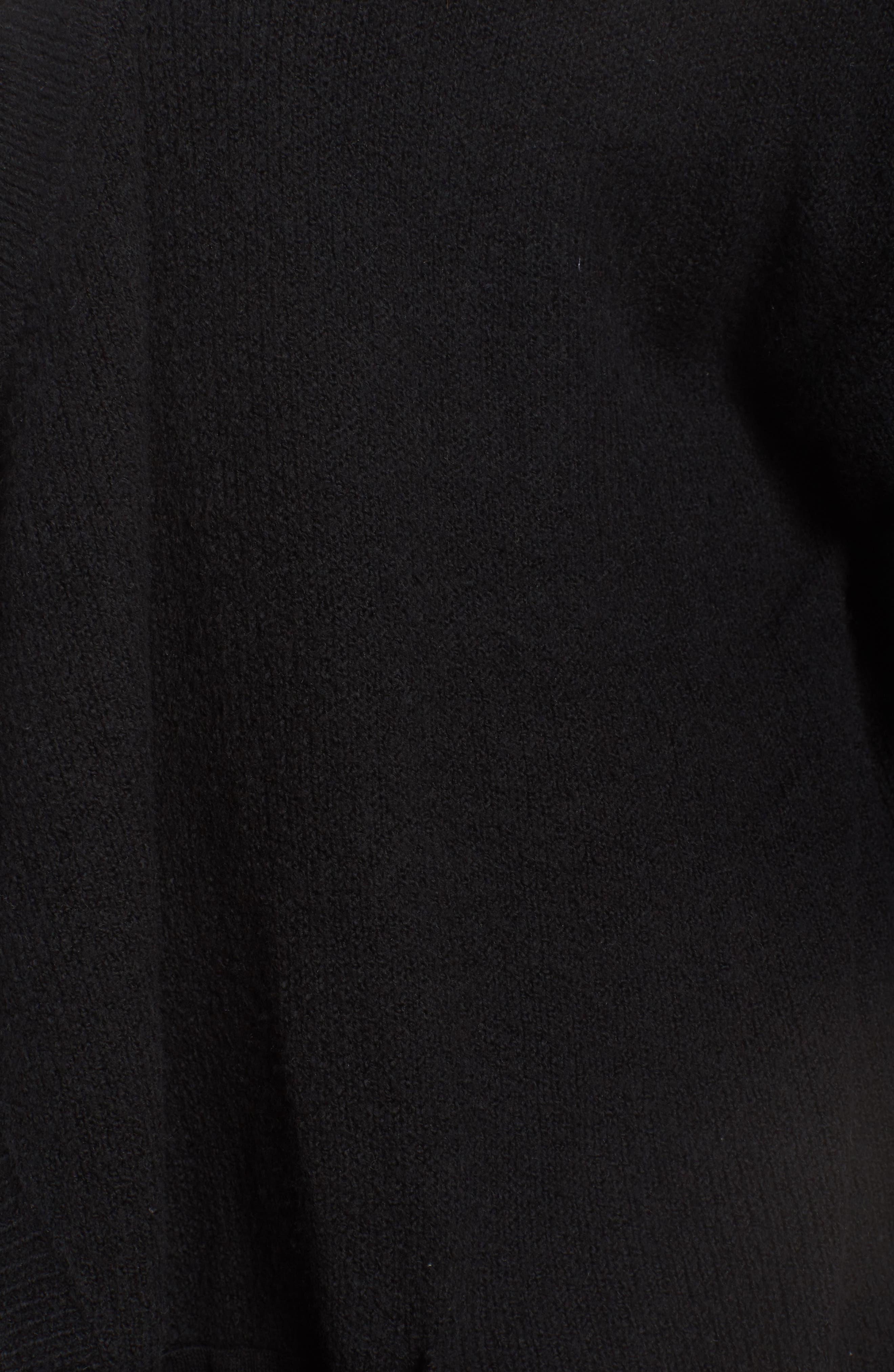 Drape Cardigan,                             Alternate thumbnail 11, color,                             BLACK