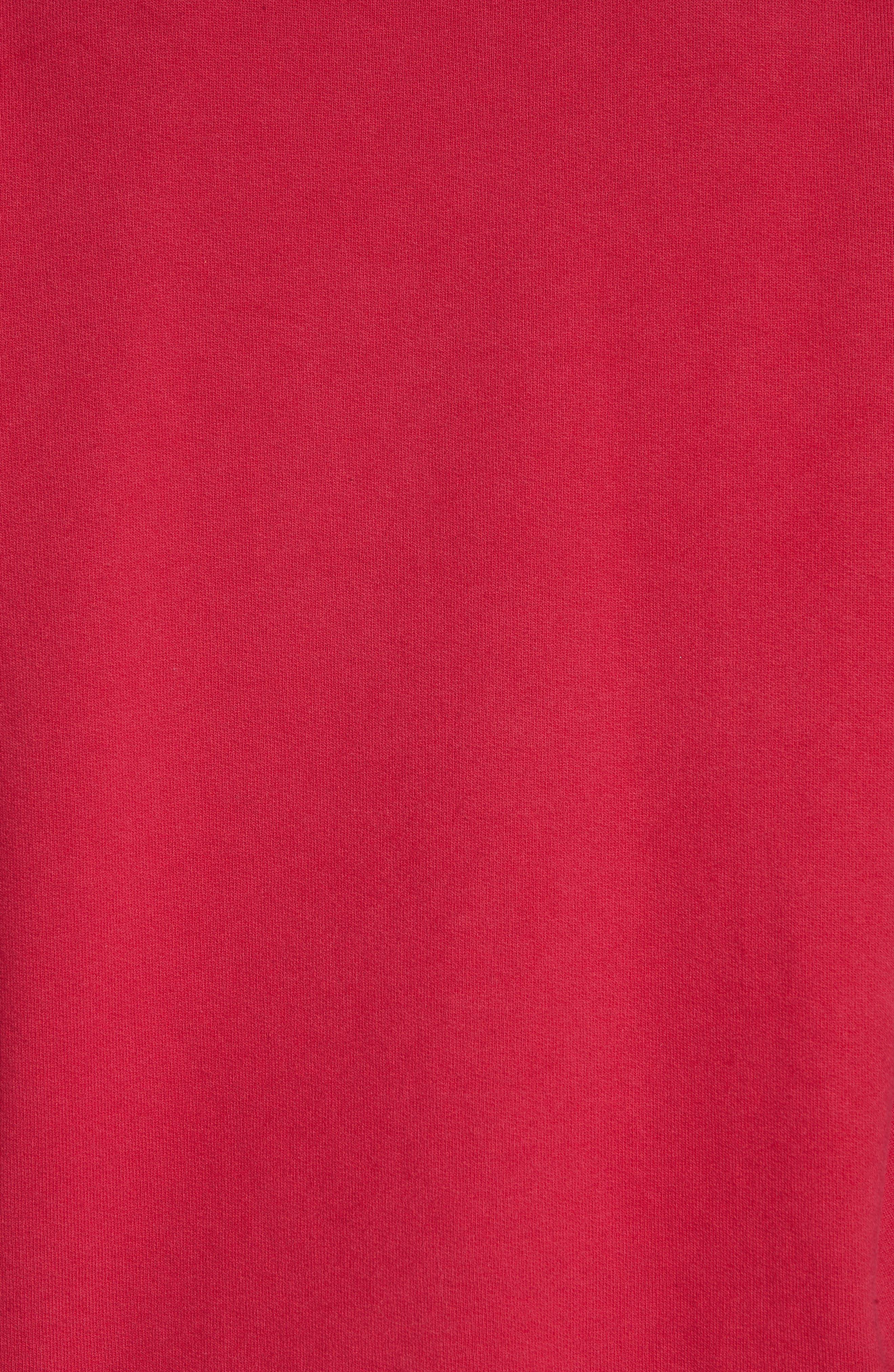 Crewneck Sweatshirt,                             Alternate thumbnail 5, color,                             CHERRY
